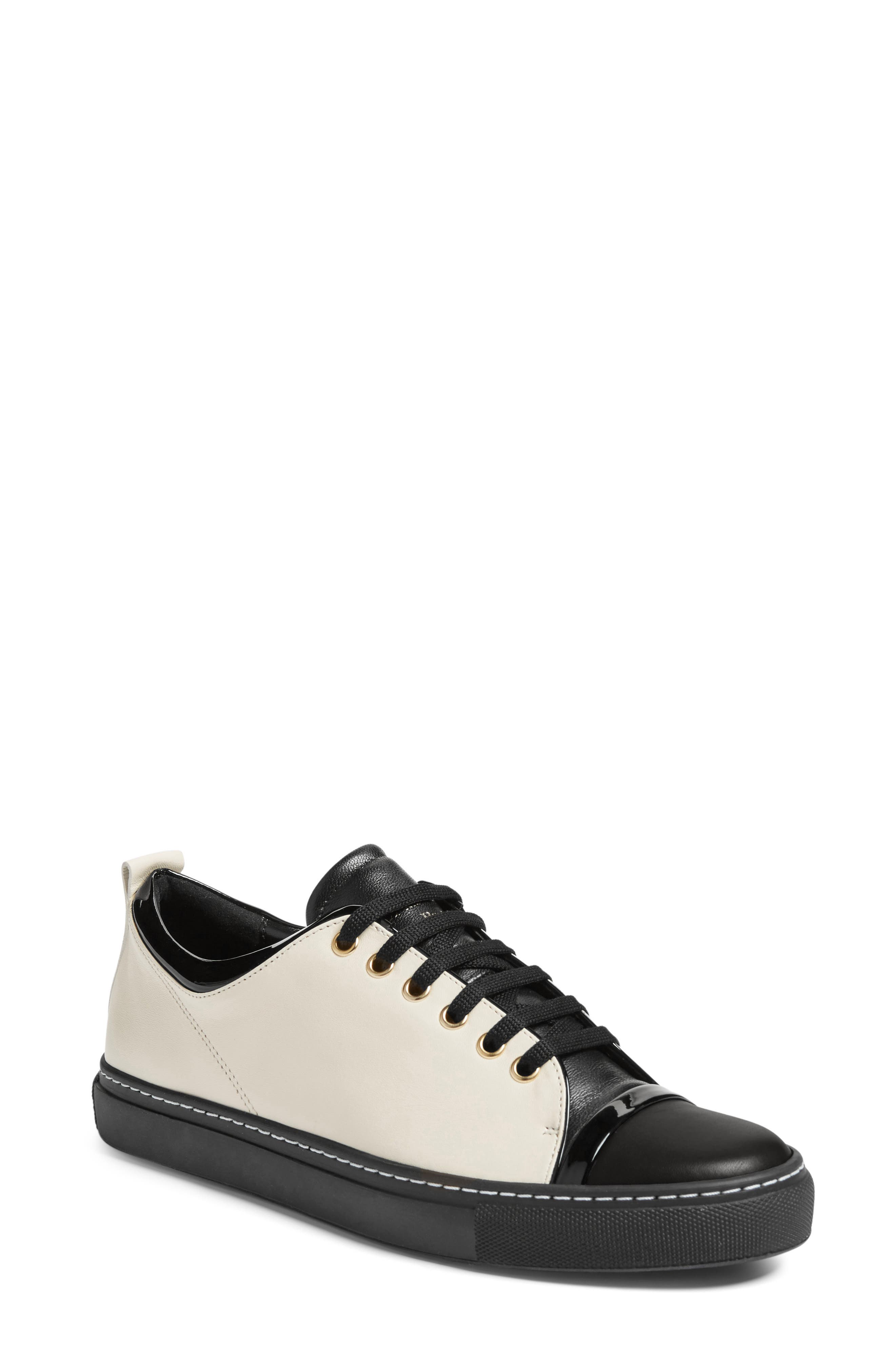 Lanvin Low Top Cap Toe Sneaker (Women)