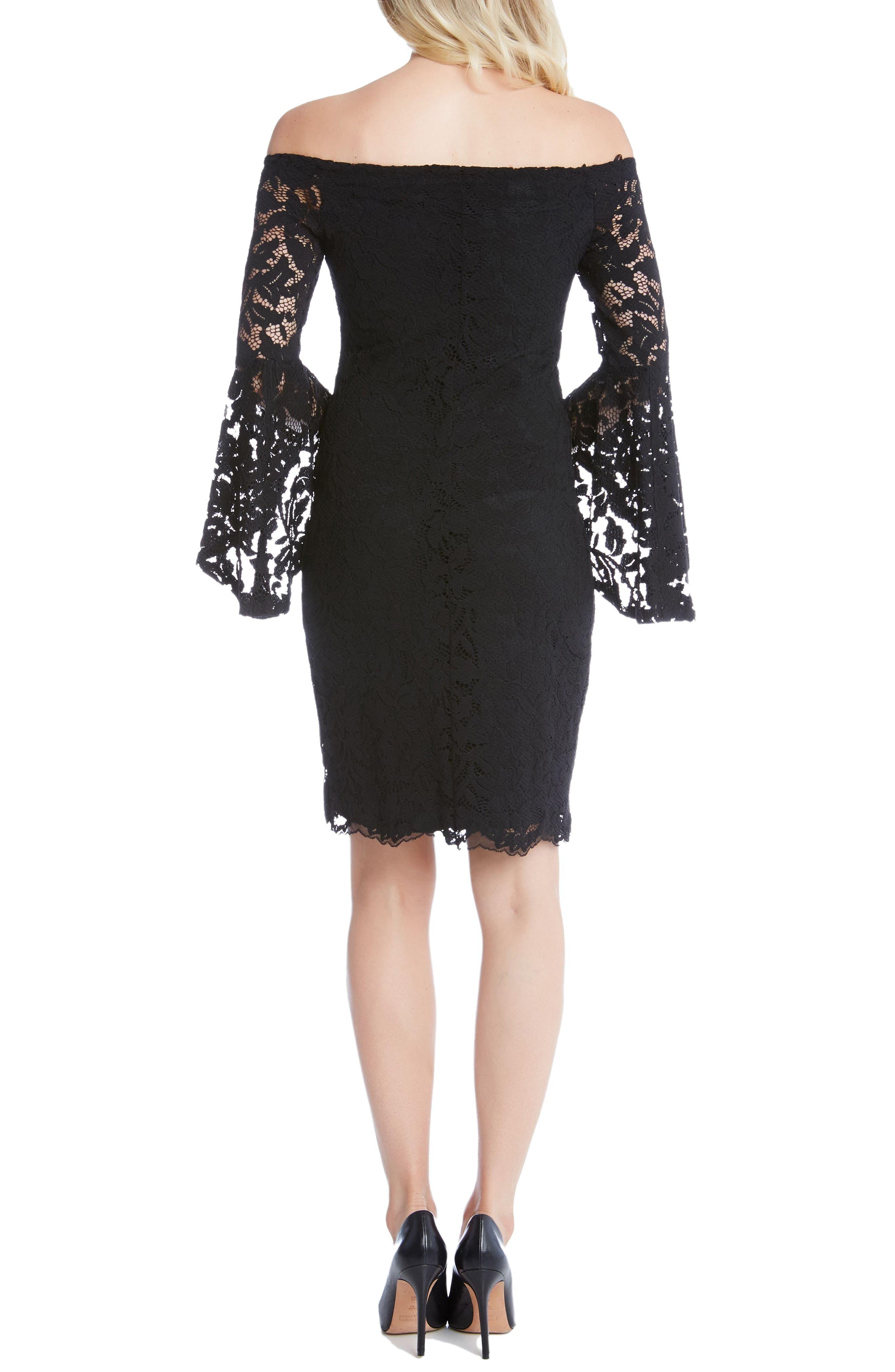 Alternate Image 3  - Karen Kane Samantha Lace Off the Shoulder Sheath Dress