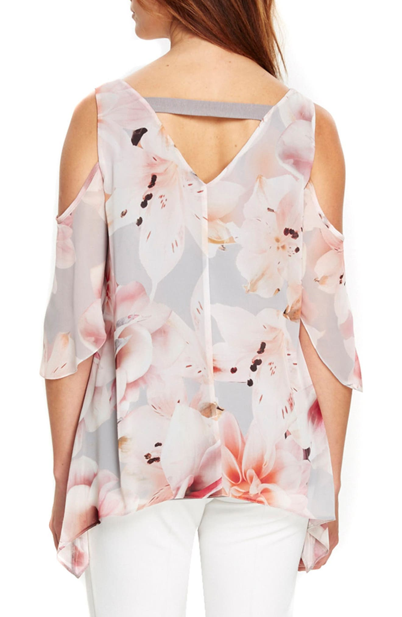 Alternate Image 3  - Wallis Apricot Lily Cold Shoulder Top