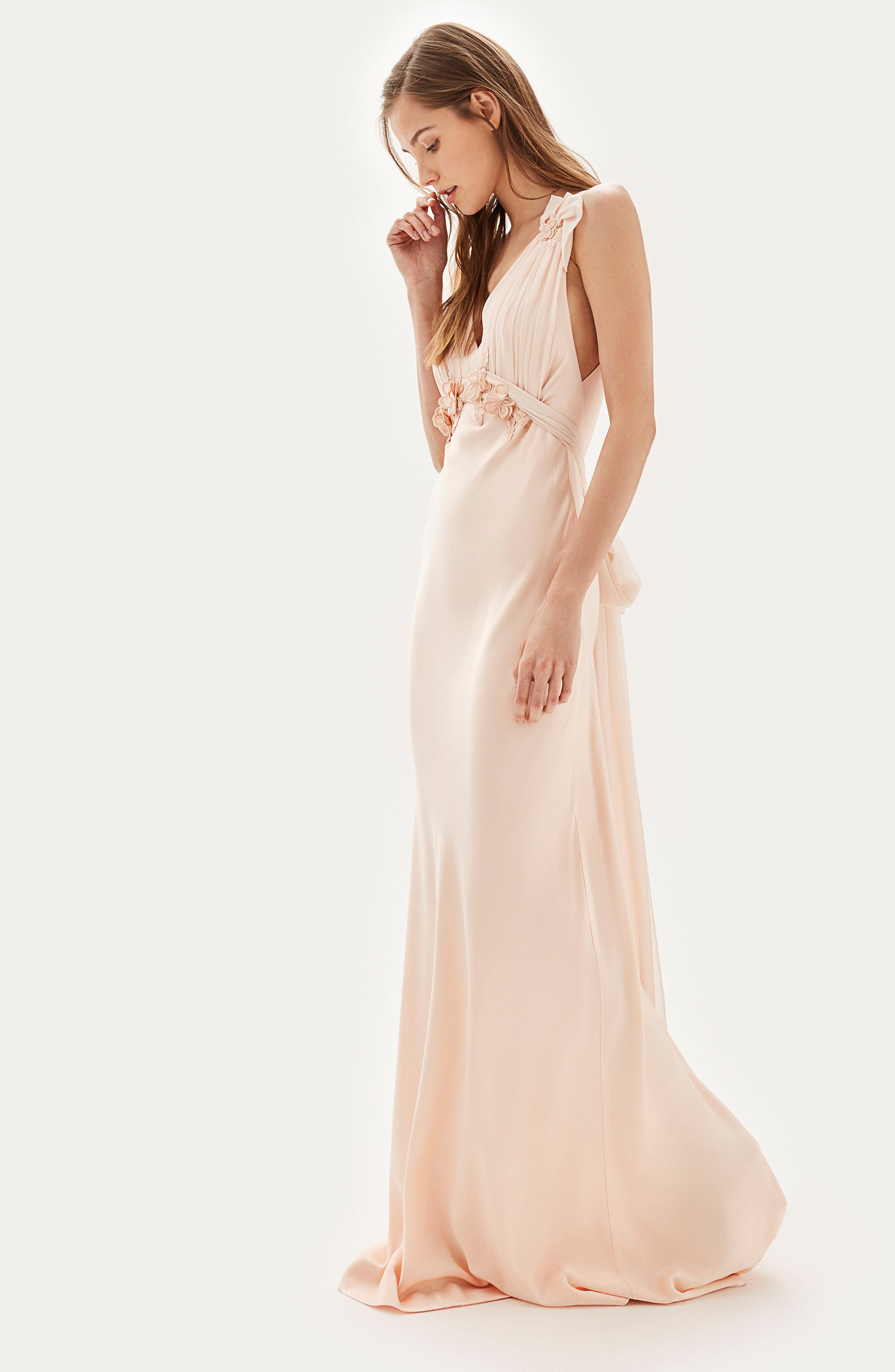 Alternate Image 6  - Topshop Bride Floral Appliqué Sheath Gown