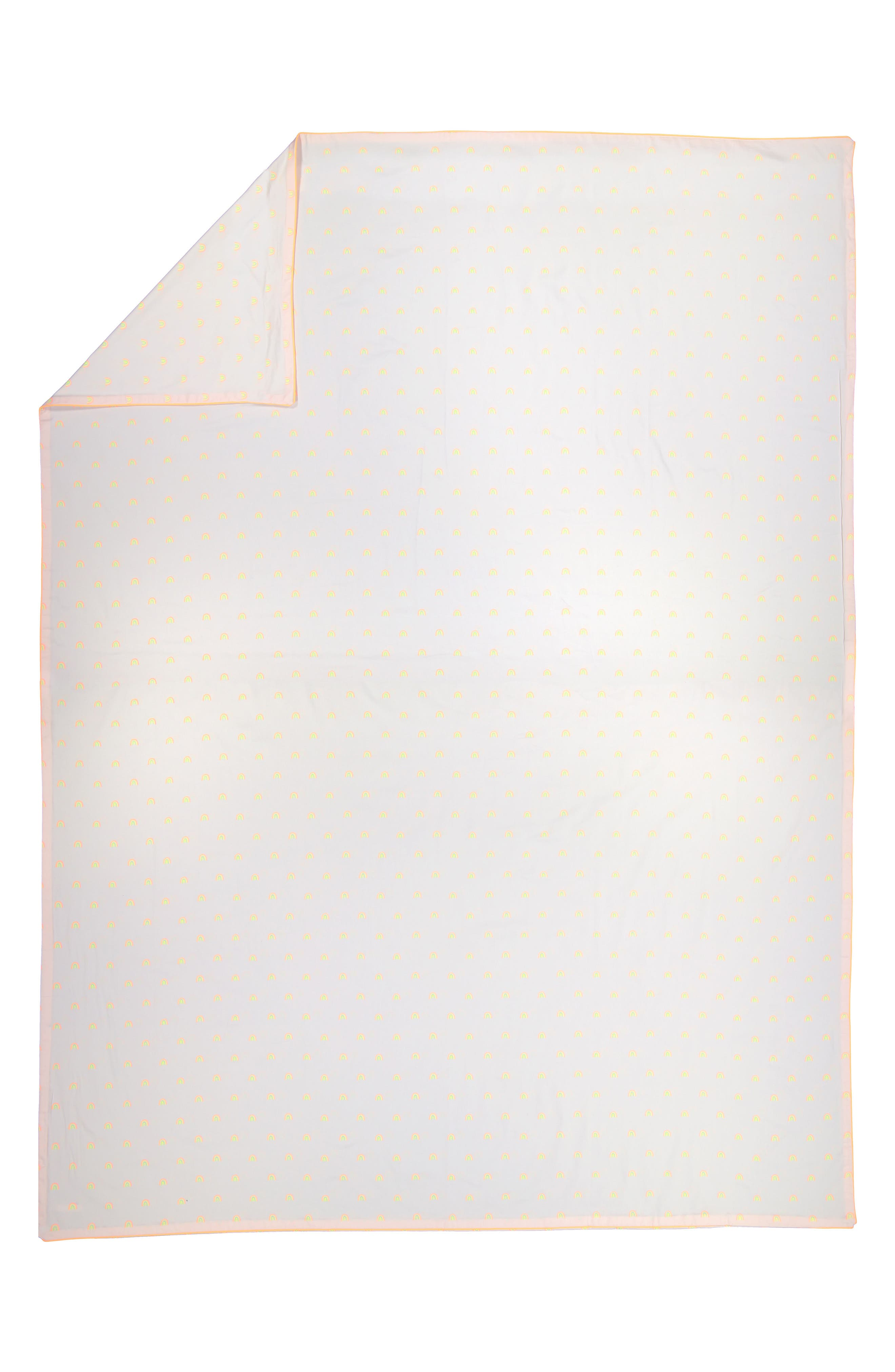 Alternate Image 2  - Meri Meri Rainbow Organic Cotton Twin Duvet Cover