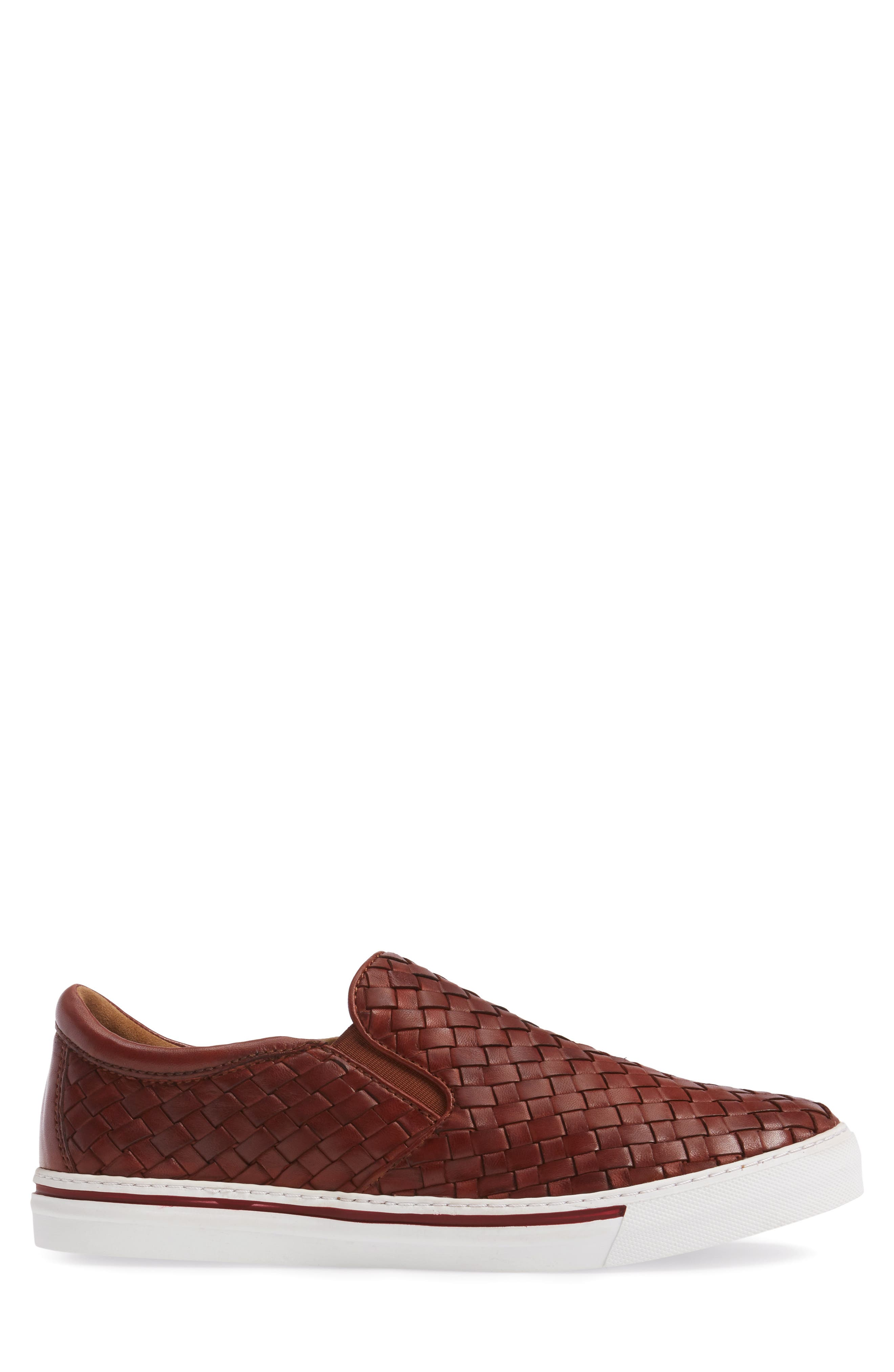 James Slip-On,                             Alternate thumbnail 3, color,                             Dark Luggage Leather