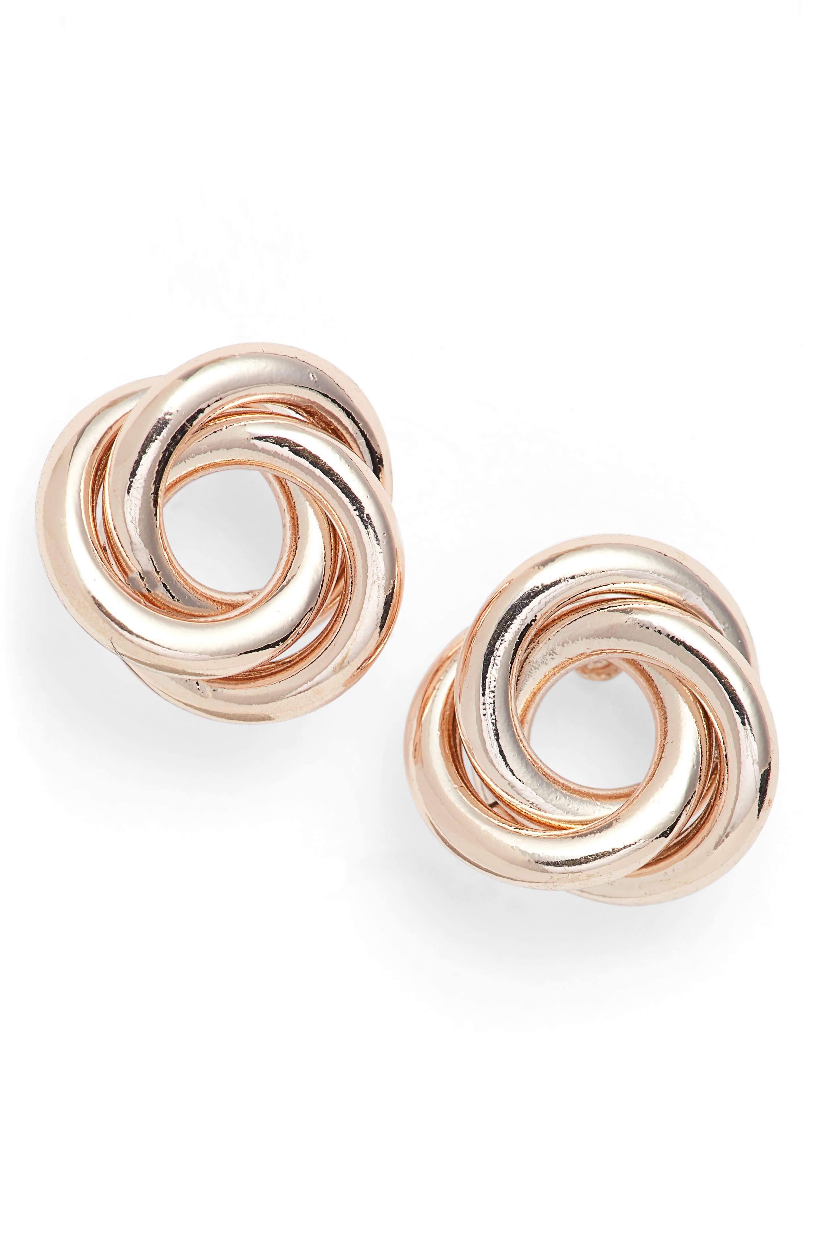 Alternate Image 1 Selected - Nordstrom Twisted Knot Stud Earrings