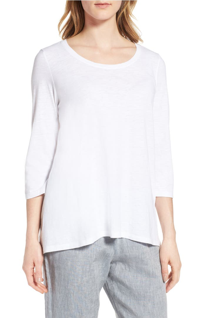 Slub Organic Cotton Tank Top, Petite Available in Black, White More Details Eileen Fisher Slub Organic Cotton Tank Top, Petite Details Eileen Fisher tank in slubby jersey.