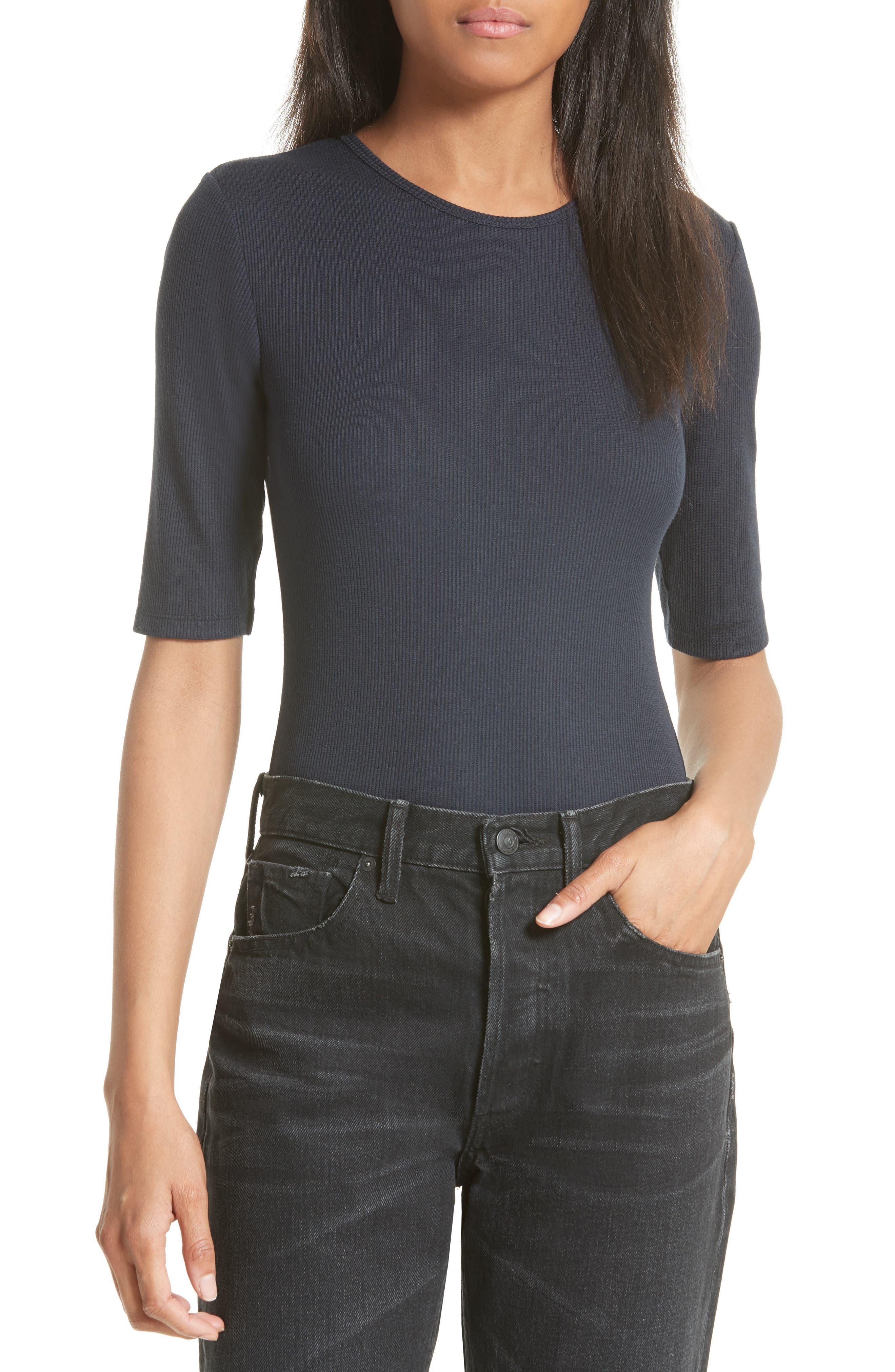 Vince Elbow Sleeve Bodysuit