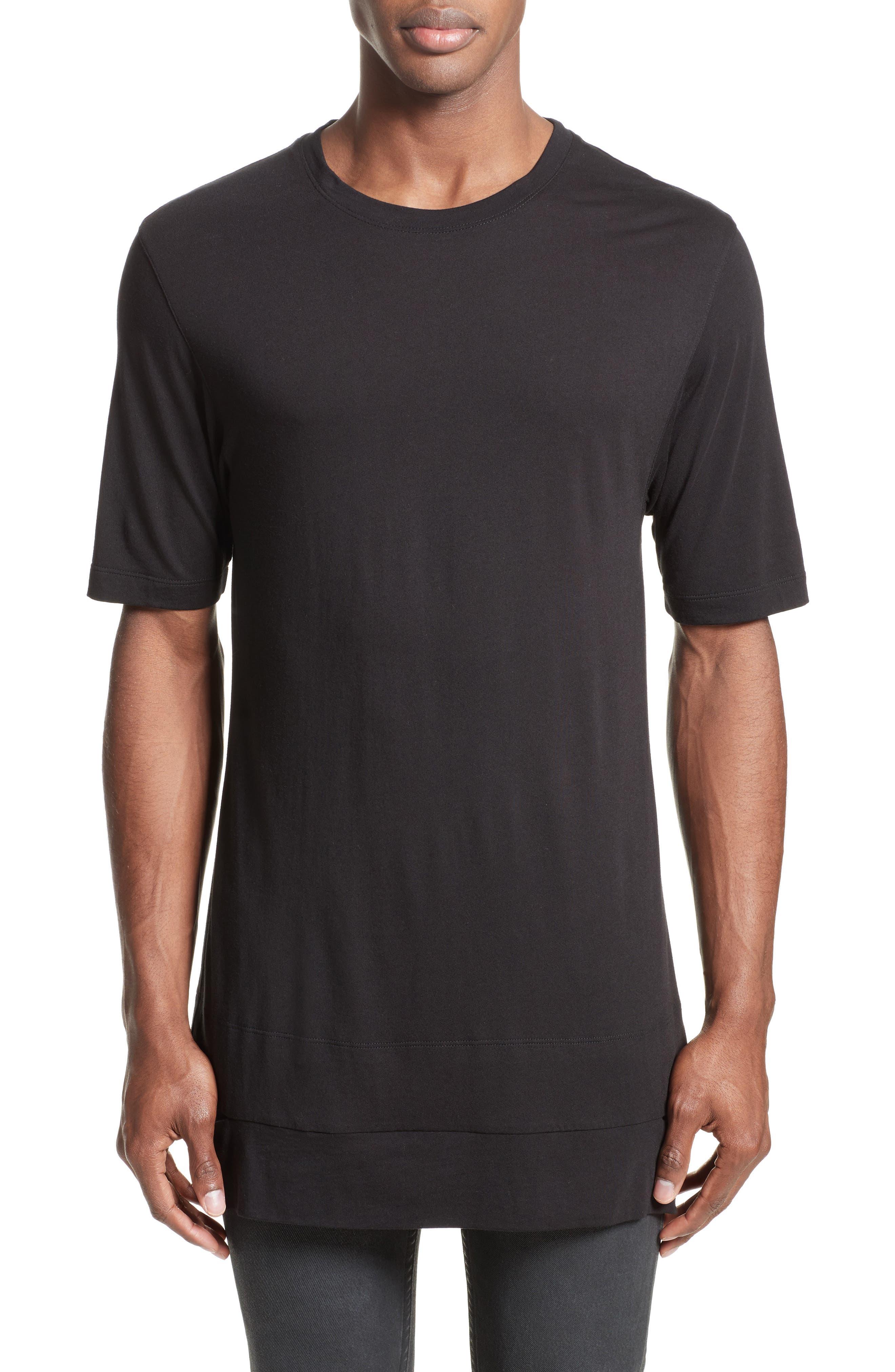Main Image - Helmut Lang Cut Hem T-Shirt