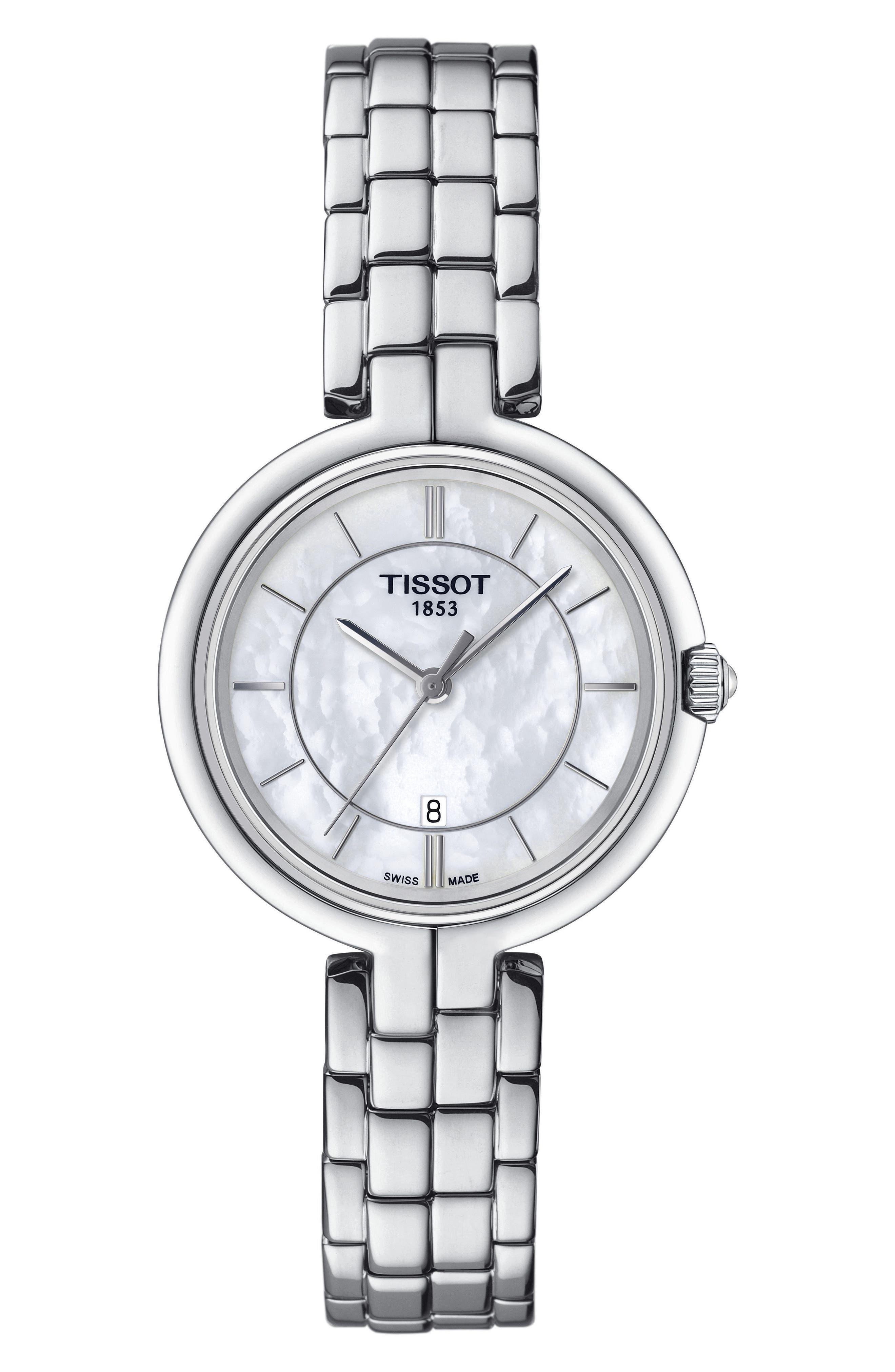 Main Image - Tissot Flamingo Bracelet Watch, 26mm