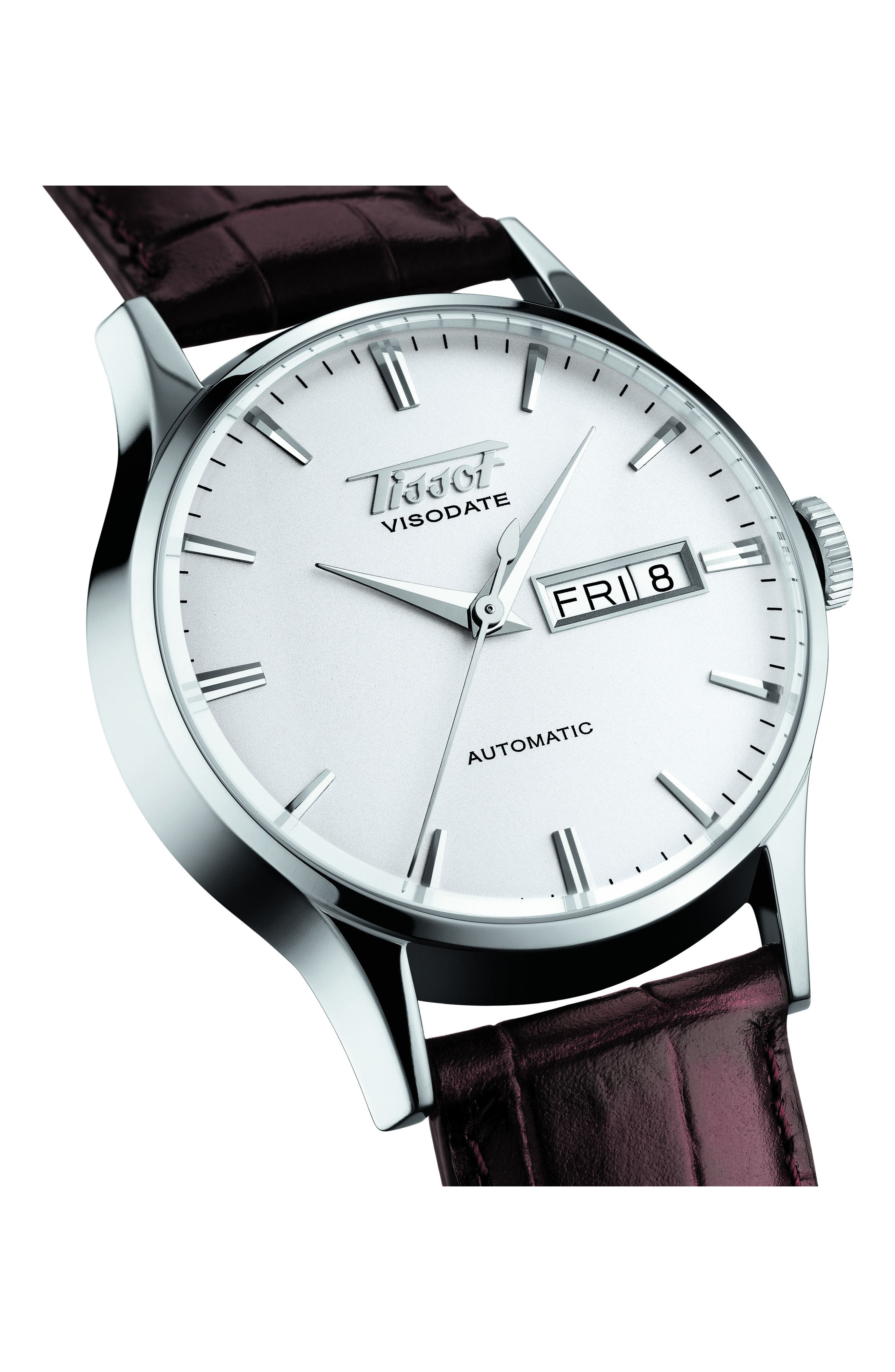 Alternate Image 3  - Tissot Heritage Visodate Automatic Watch, 40mm