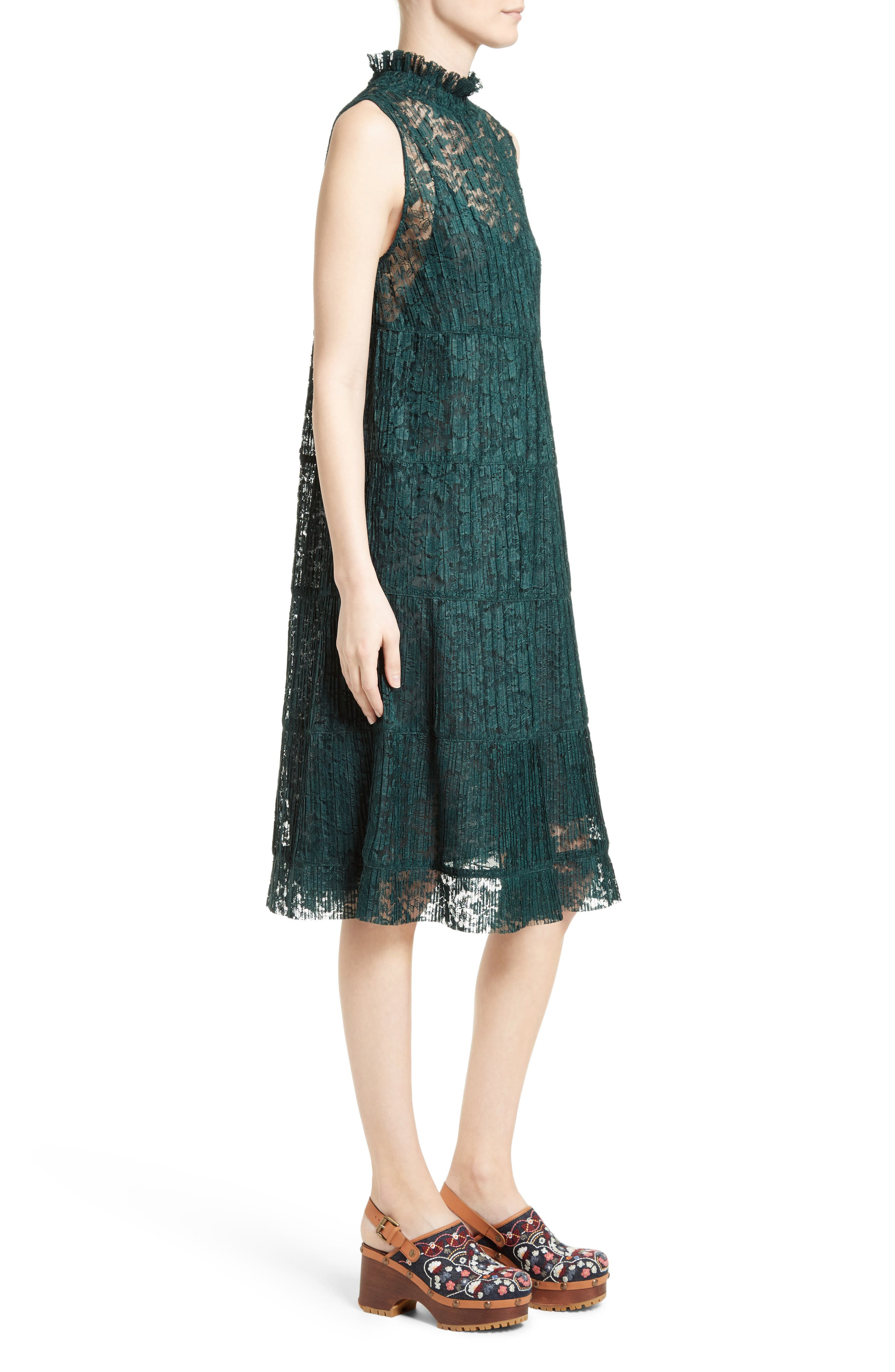 Alternate Image 3  - See by Chloé Lace Ruffle Neck Dress