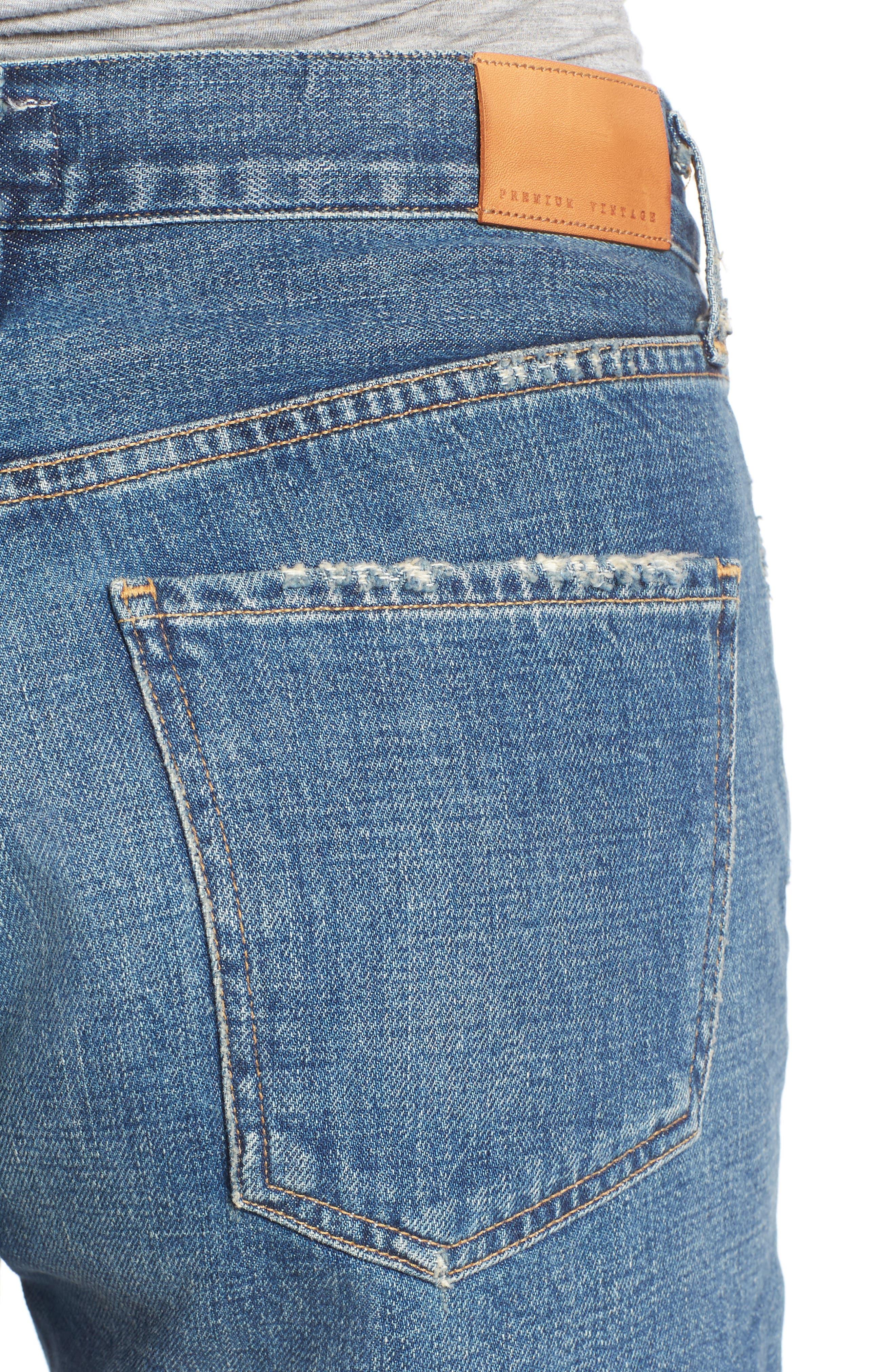 Alyx High Waist Cutoff Denim Shorts,                             Alternate thumbnail 4, color,                             Teaser