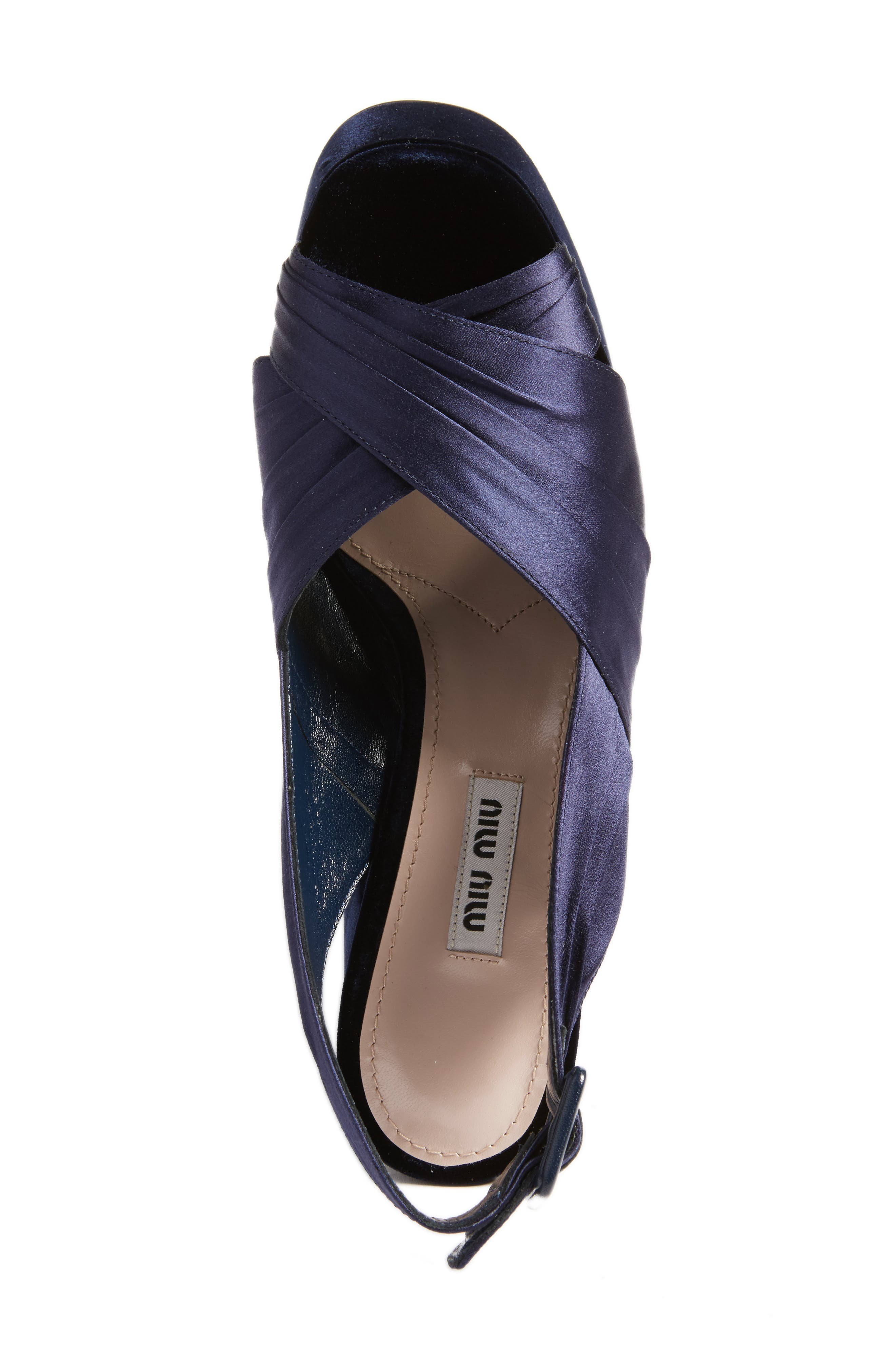 Slingback Platform Sandal,                             Alternate thumbnail 5, color,                             Dark Blue