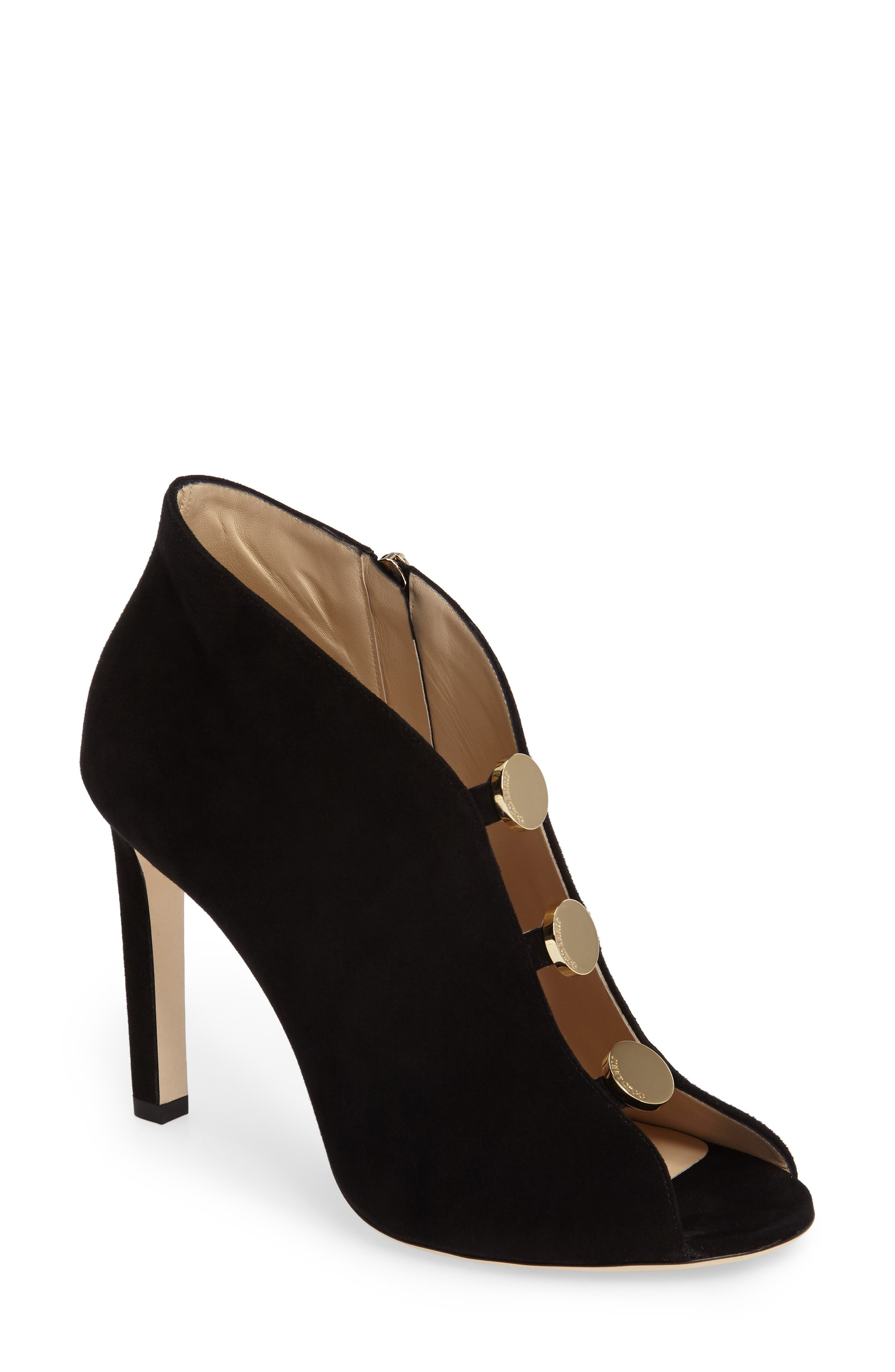 Main Image - Jimmy Choo Lorna Button Open-Toe Bootie