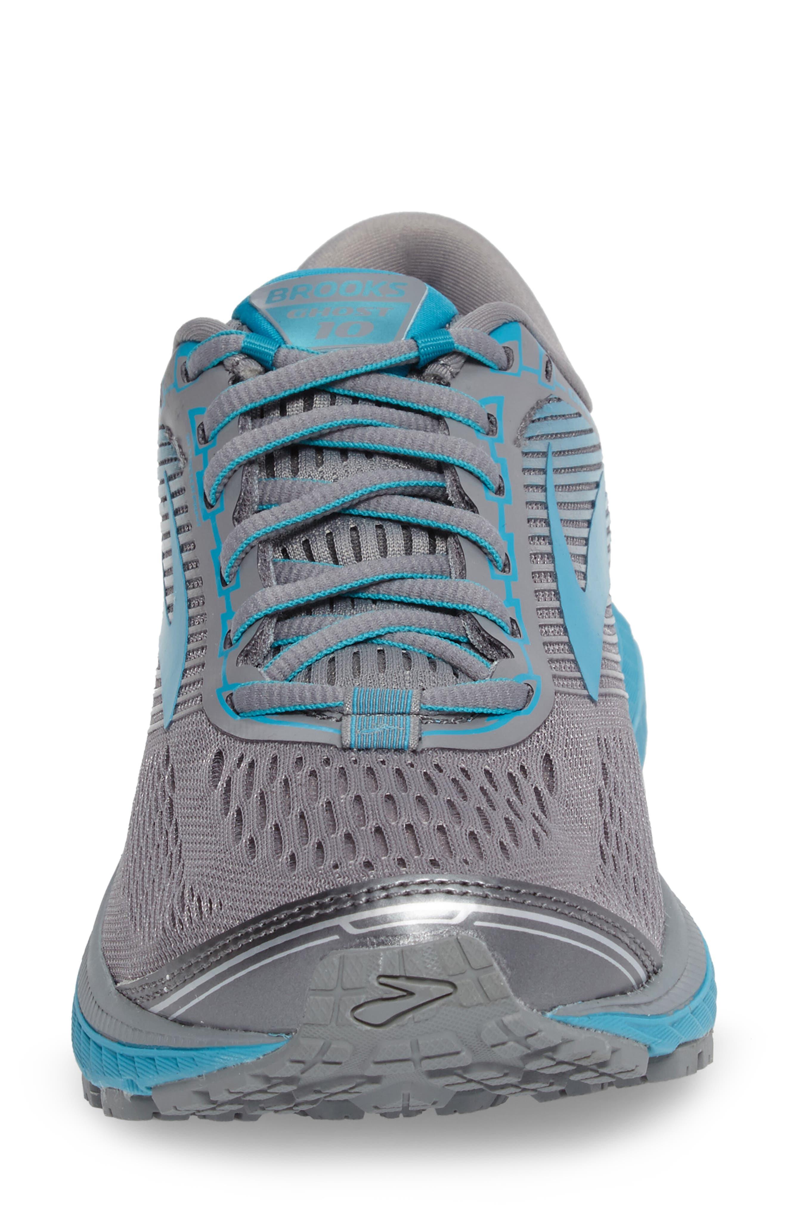 Ghost 10 Running Shoe,                             Alternate thumbnail 4, color,                             Primer Grey/ Teal/ Silver