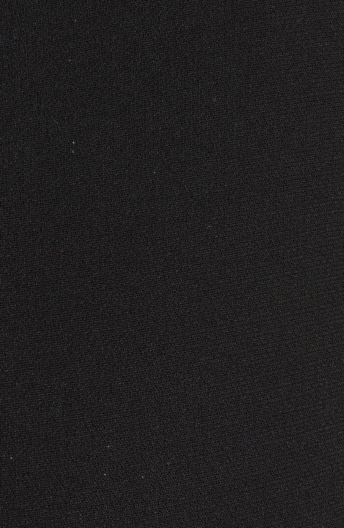 Tash Tassel Crepe Pants,                             Alternate thumbnail 6, color,                             Black
