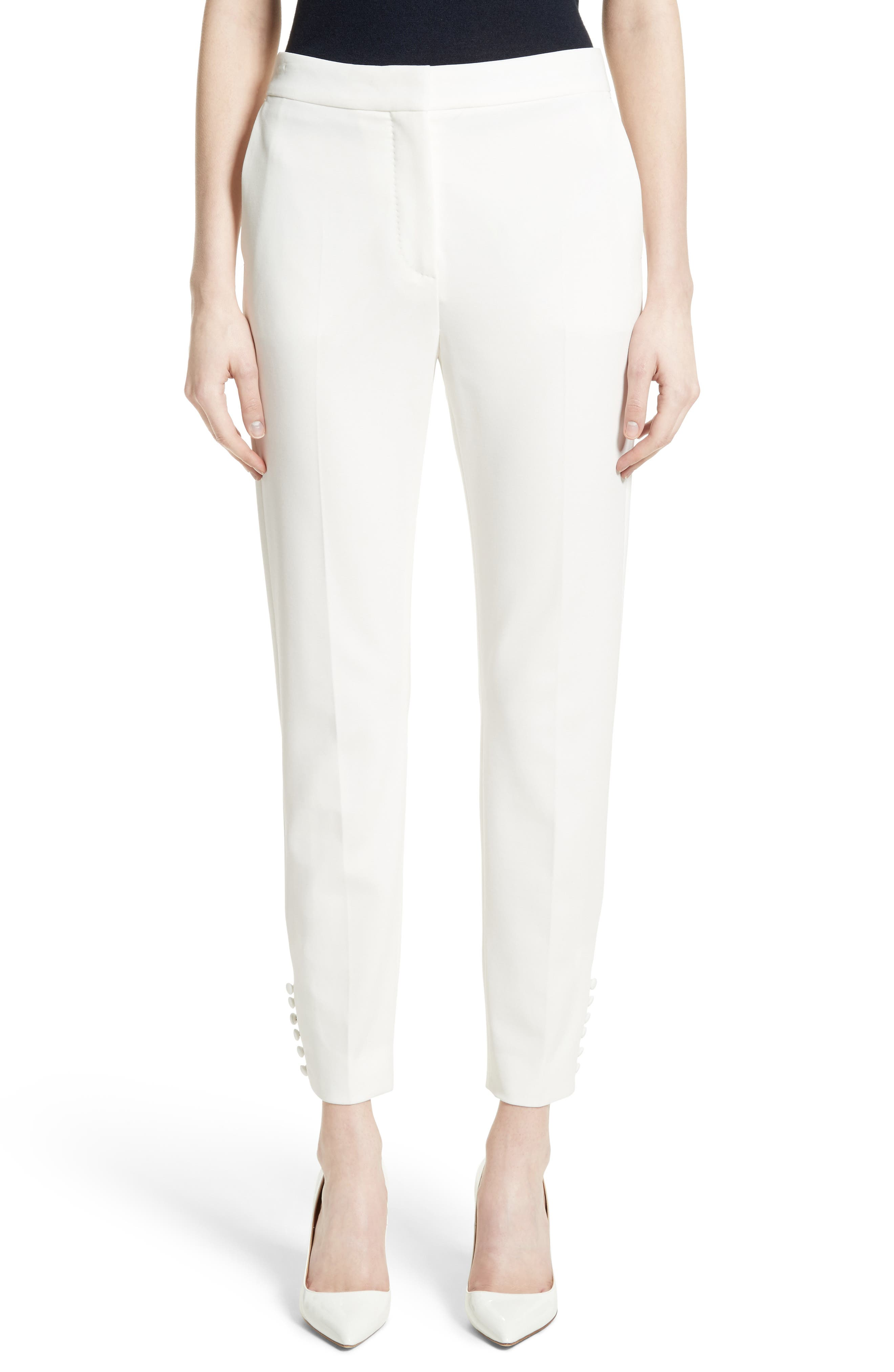 Papaile Crop Pants,                         Main,                         color, Ivory