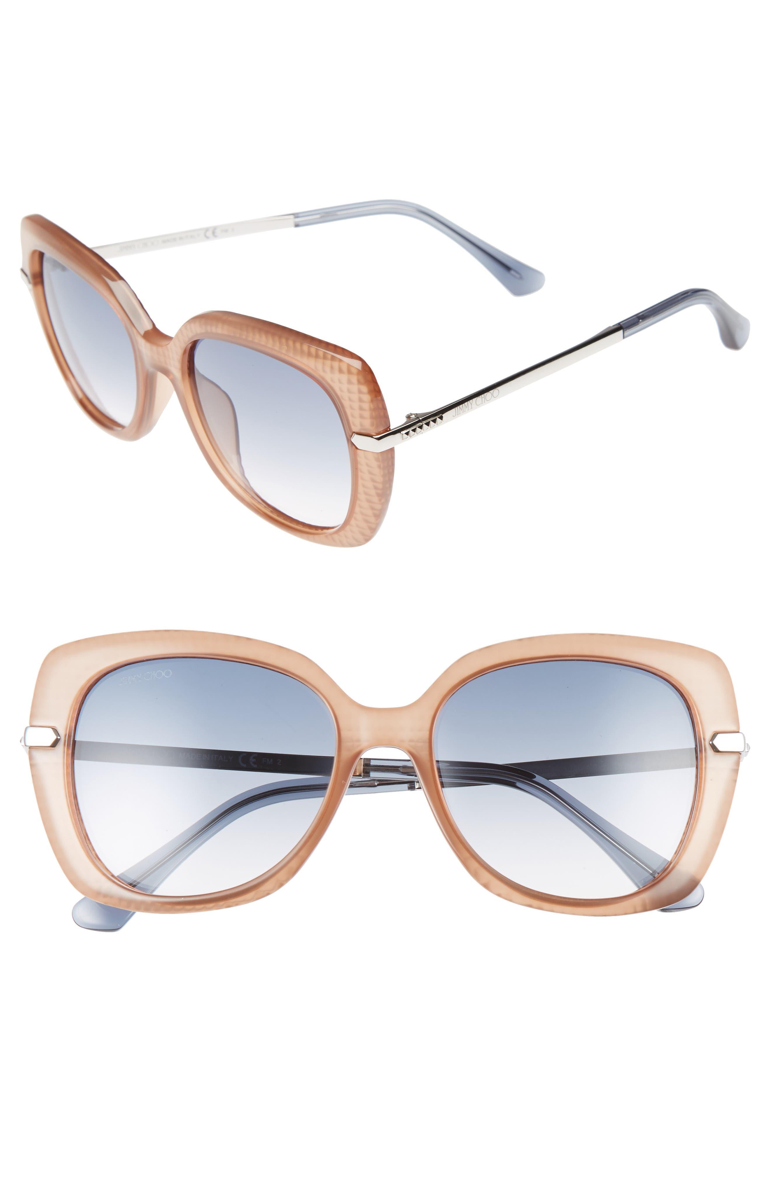 Jimmy Choo Ludis 53mm Gradient Sunglasses