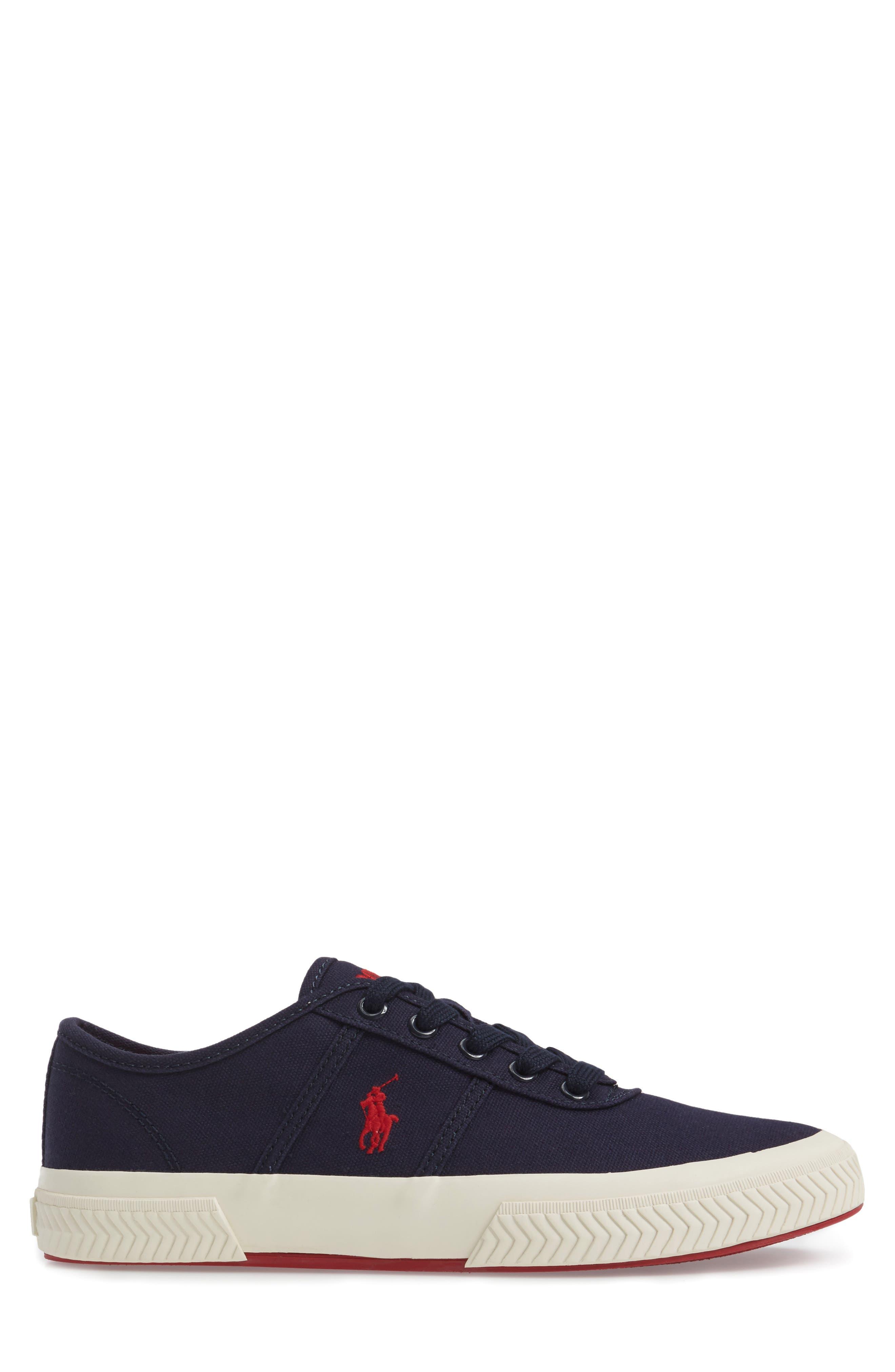Polo Ralph Lauren Tyrian Sneaker,                             Alternate thumbnail 3, color,                             Newport Navy