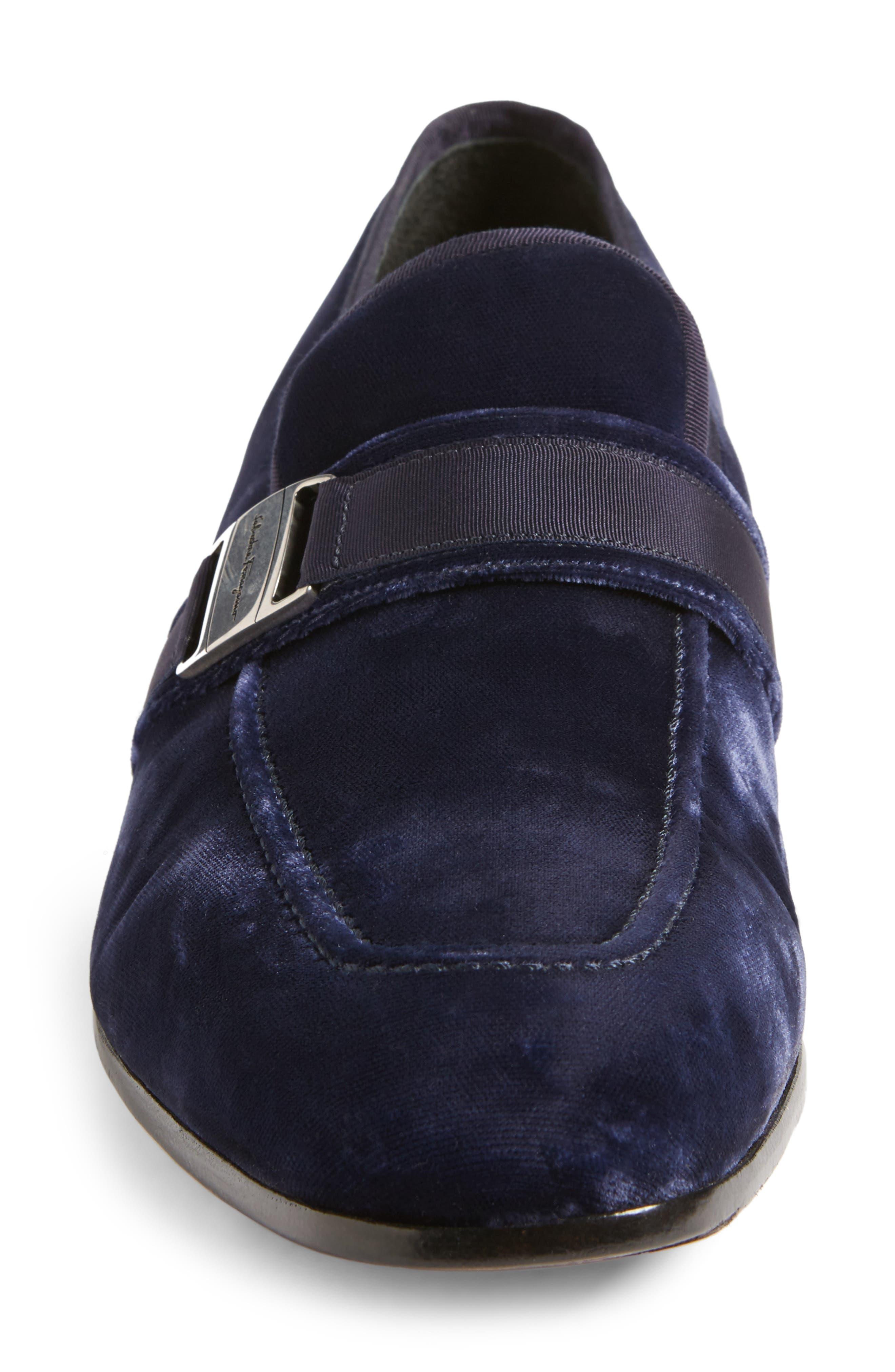 Danny 2 Bit Loafer,                             Alternate thumbnail 4, color,                             Blue Marine Velvet