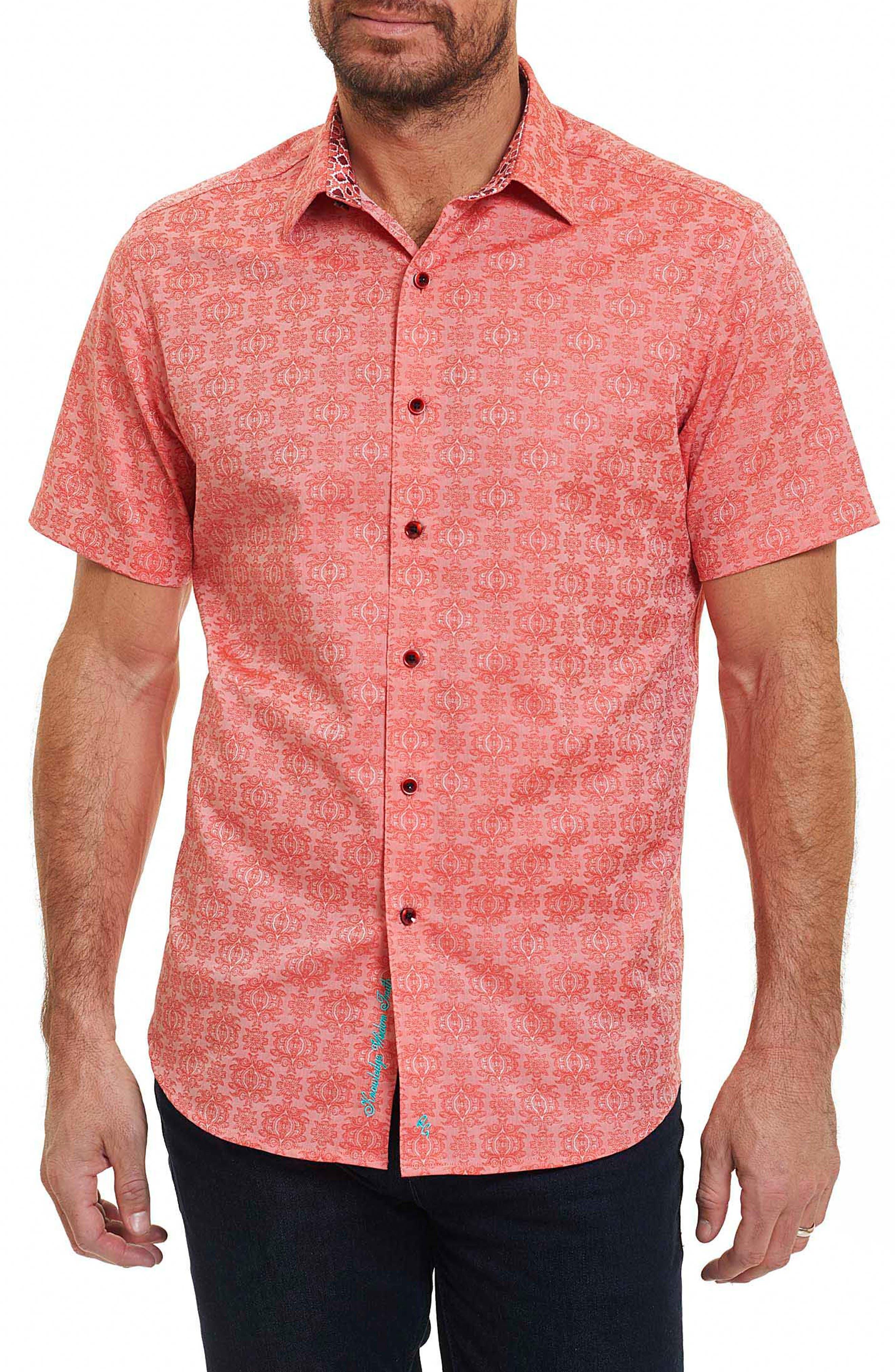 Cullen Regular Fit Sport Shirt,                         Main,                         color, Coral