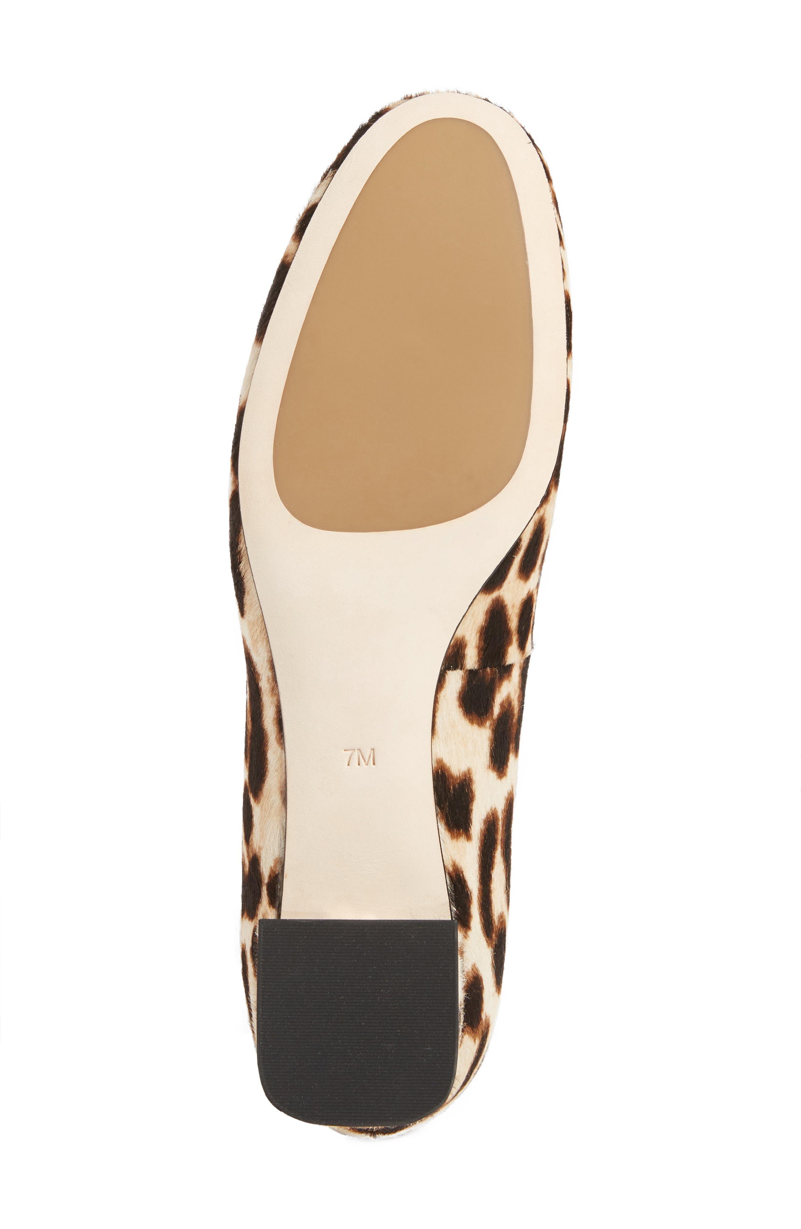 Gigi Block Heel Pump,                             Alternate thumbnail 6, color,                             Natural Leopard