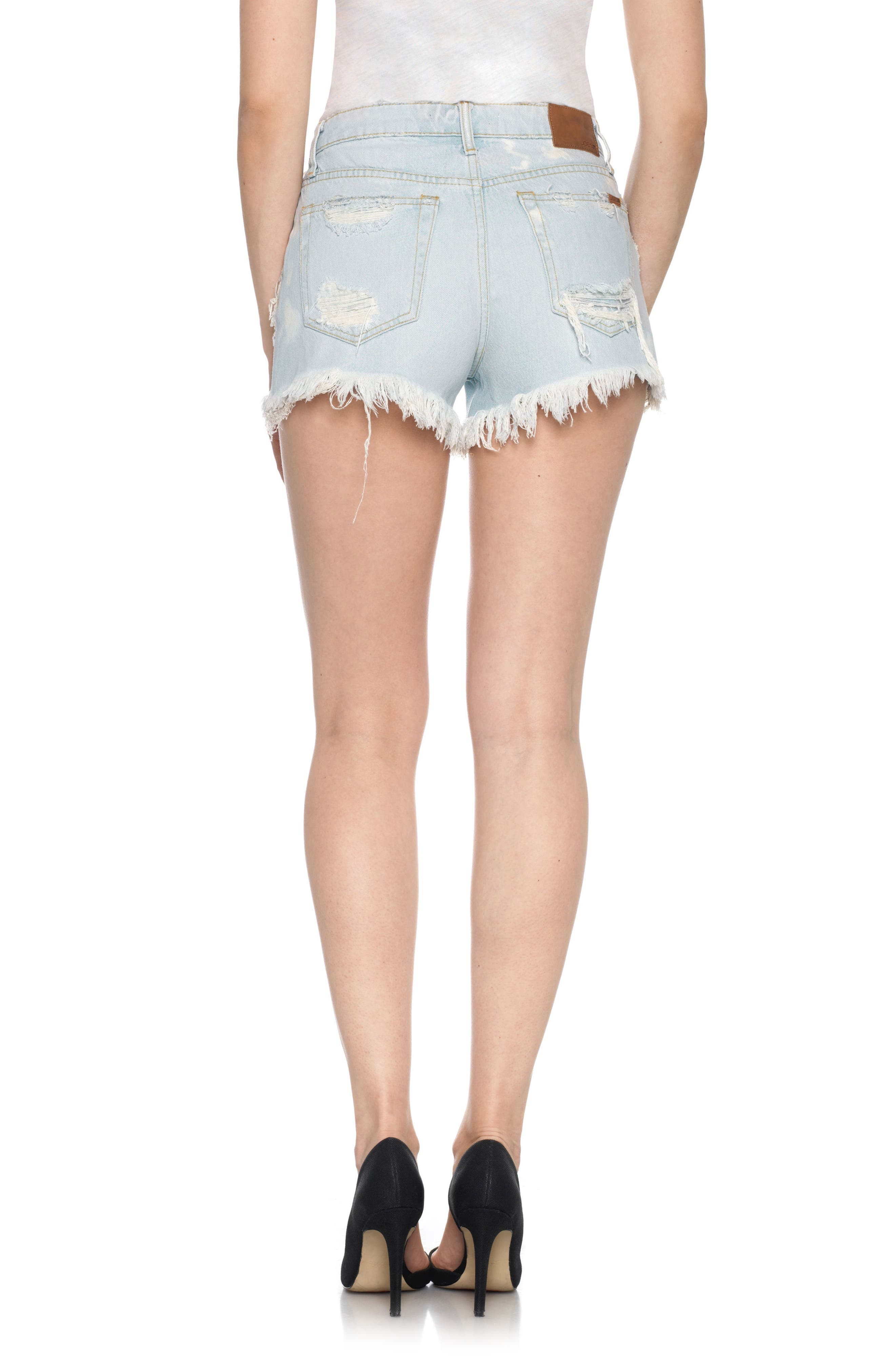 Alternate Image 2  - Joe's Collector's - Charlie High Rise Cutoff Denim Shorts (Elkie)