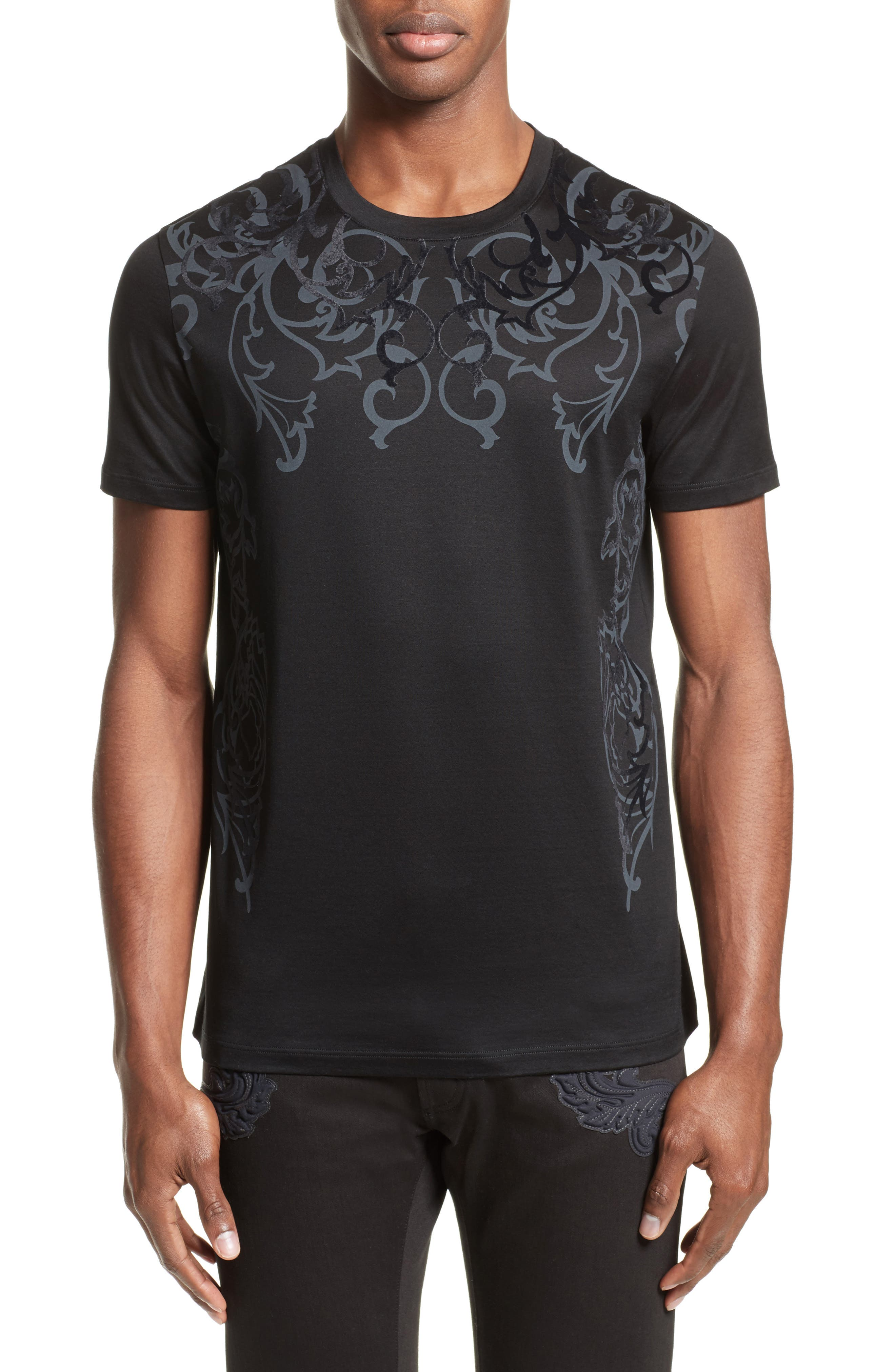 Versace Collection Flocked Baroque T-Shirt