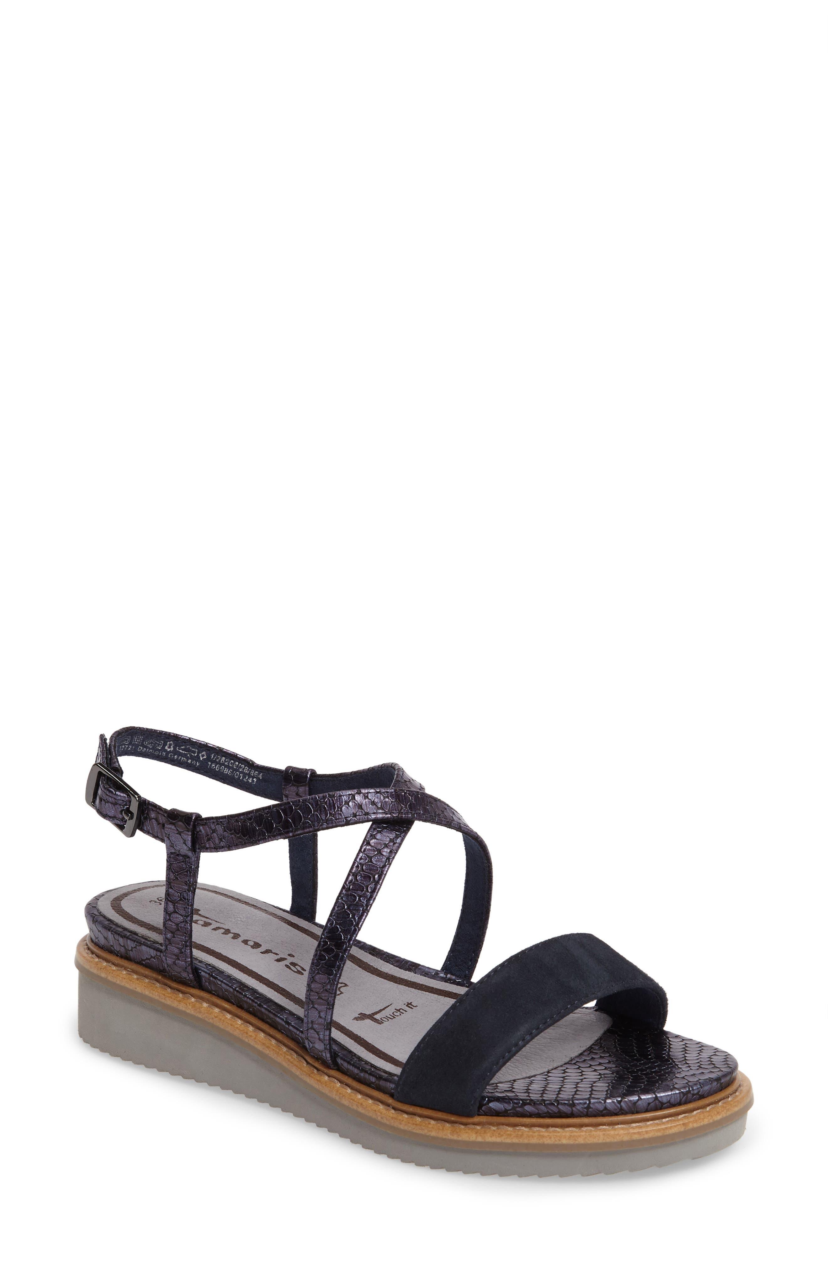 Tamaris Women's 'Eda' Platform Wedge Sandal
