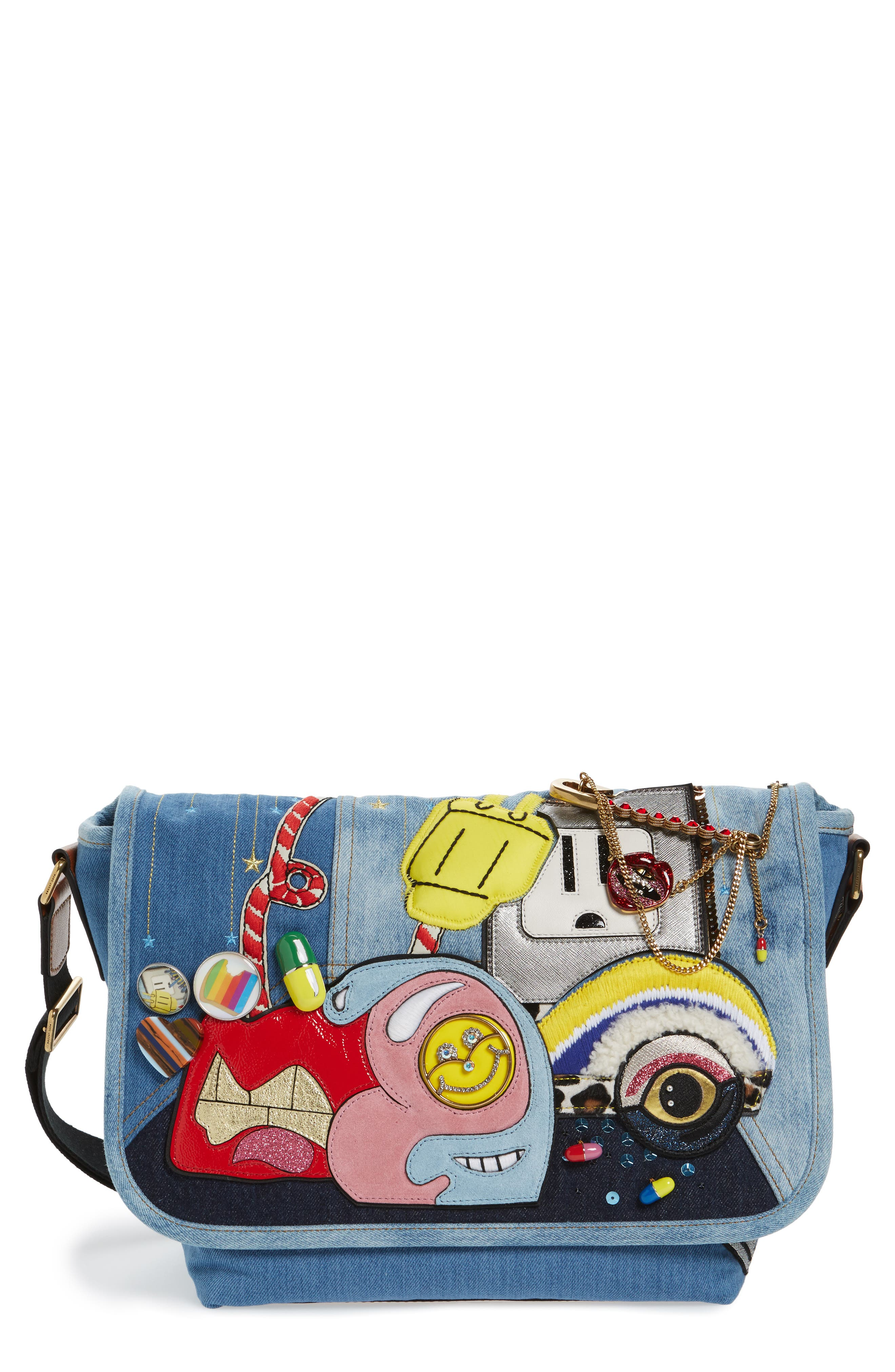 Alternate Image 1 Selected - MARC JACOBS Denim Crossbody Bag