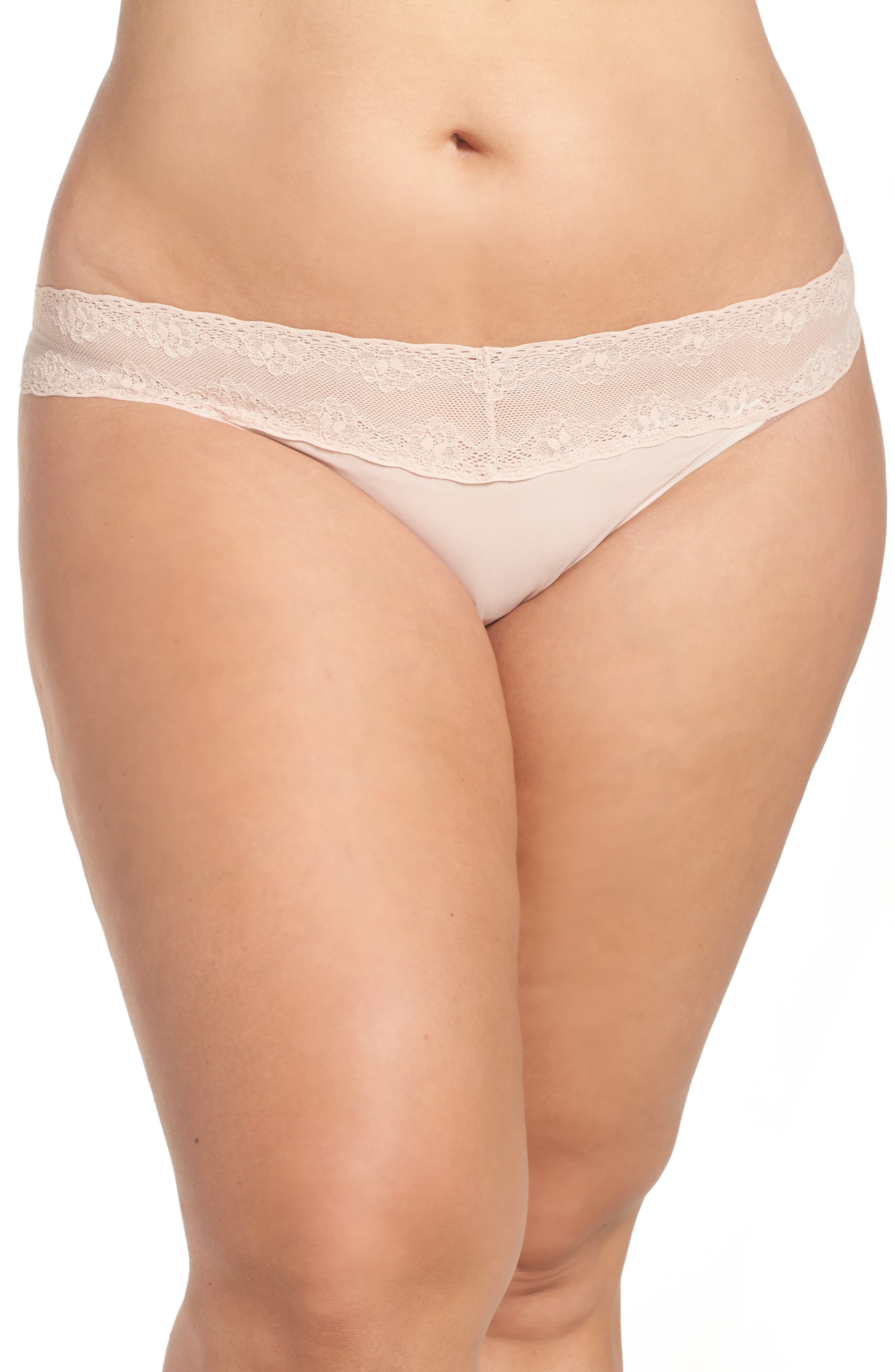 Main Image - Natori Bliss Perfection Thong (Plus Size)