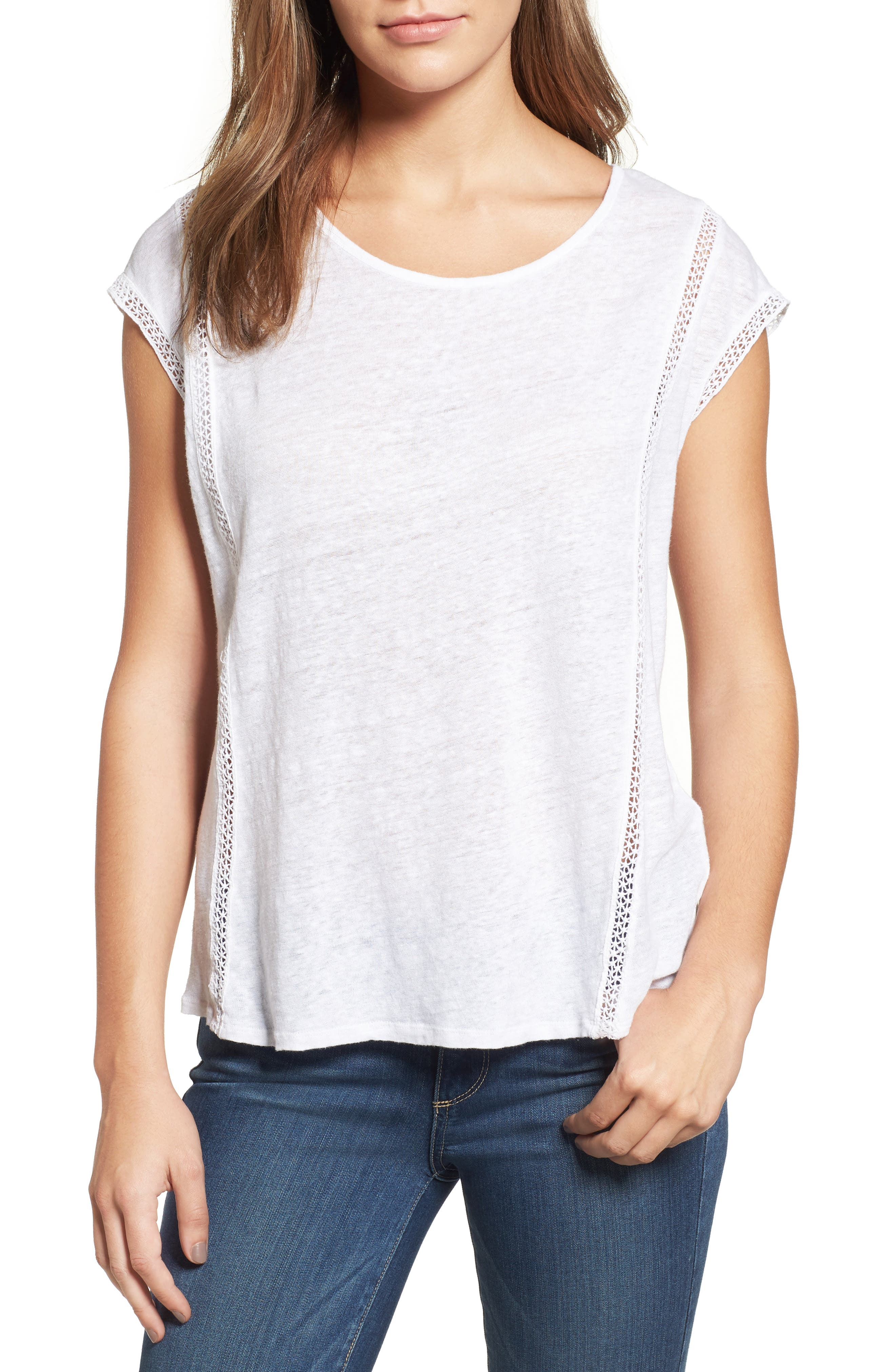 Alternate Image 1 Selected - Two by Vince Camuto Linen Tee