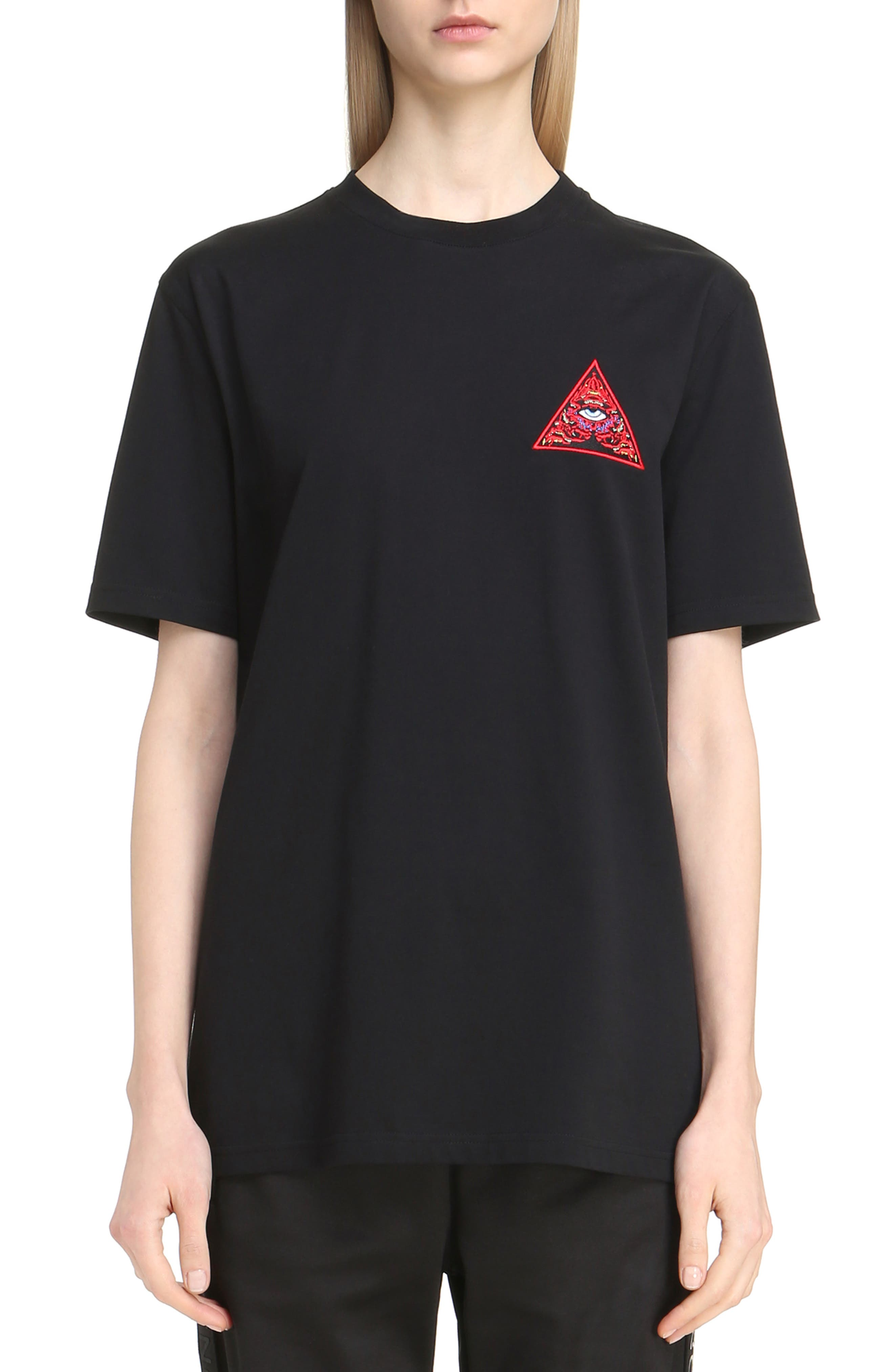 Realize Embroidered Tee,                         Main,                         color, Black