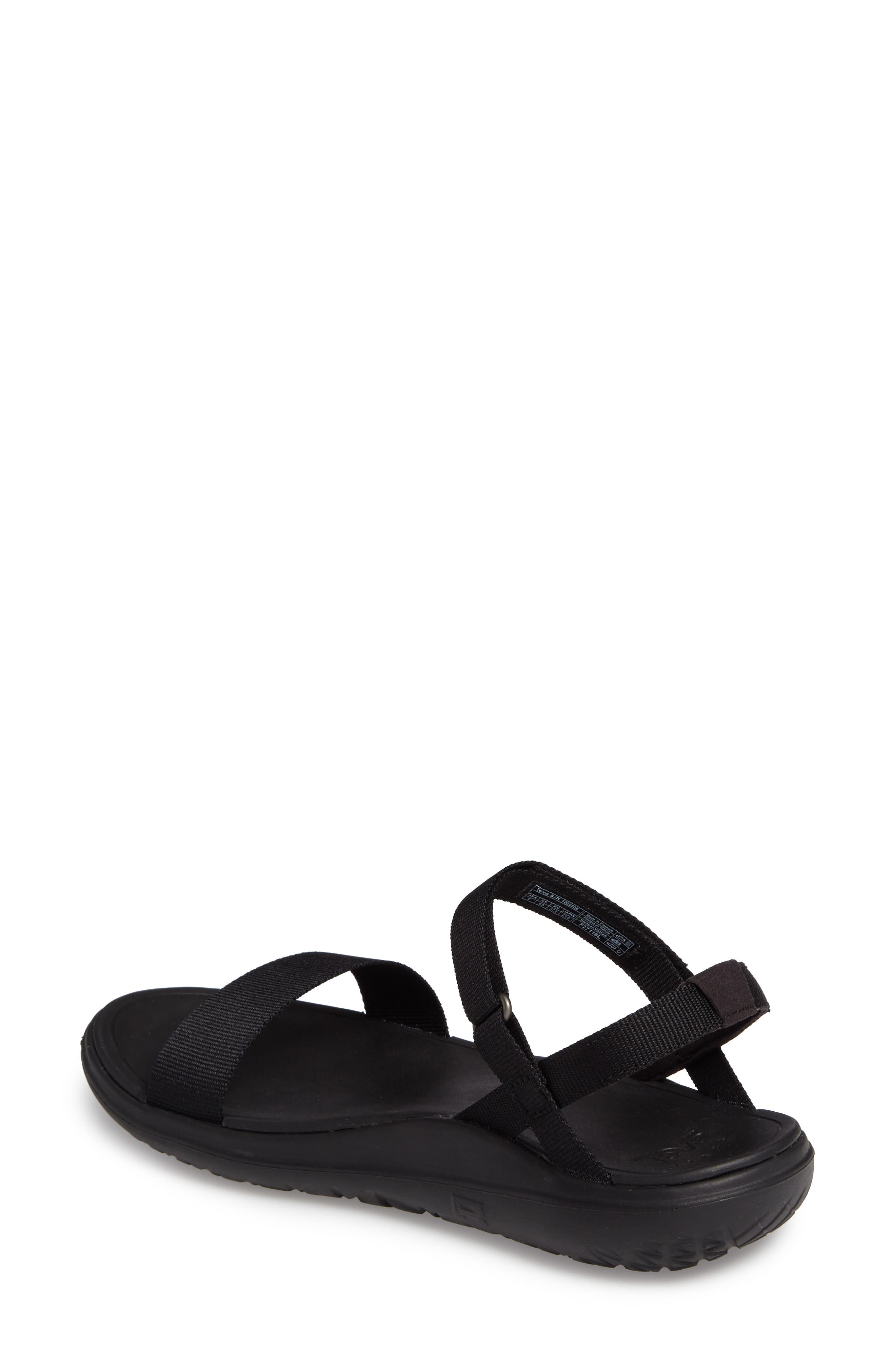 Terra Float Nova Sandal,                             Alternate thumbnail 2, color,                             Black Fabric