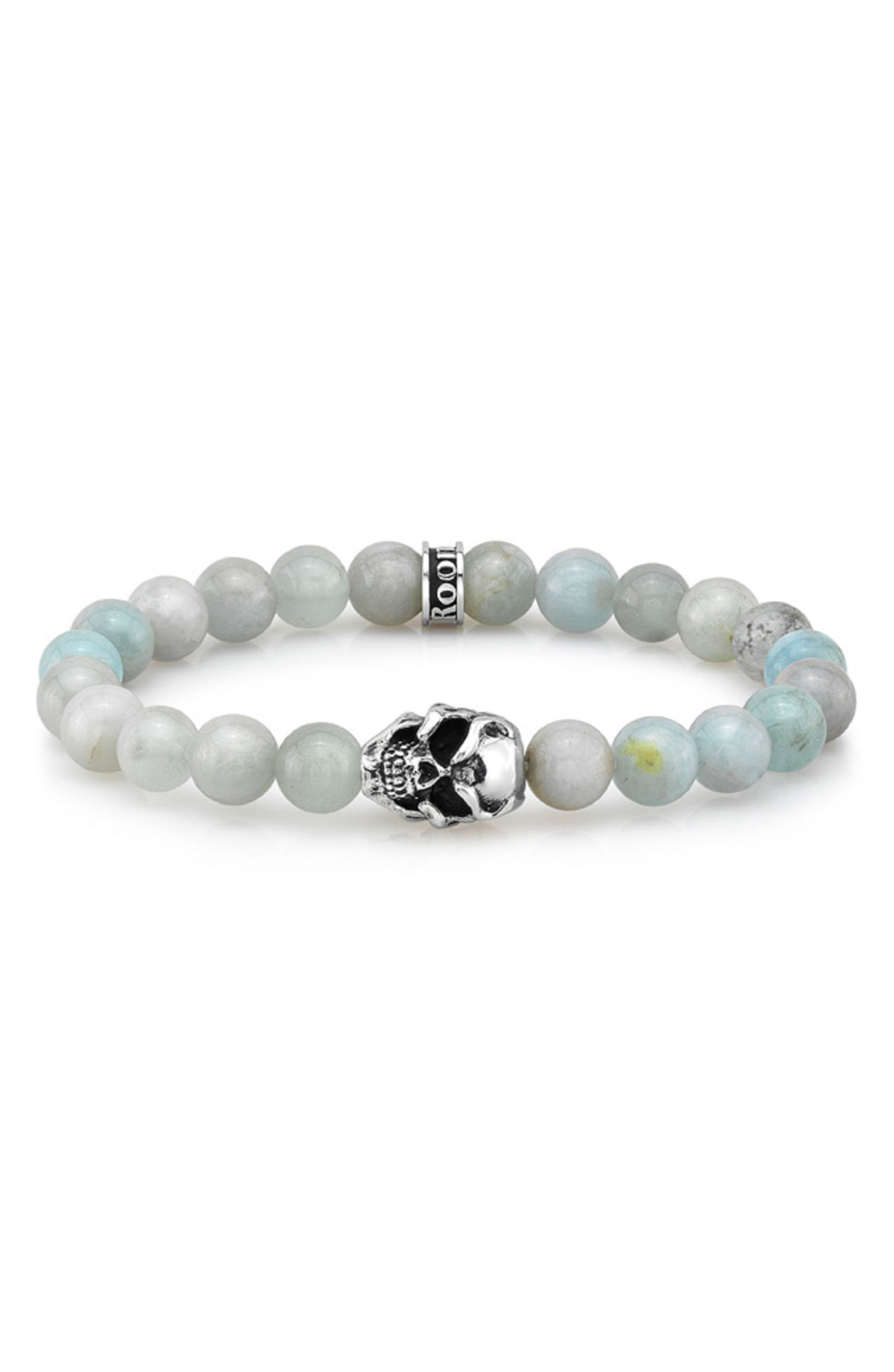 Main Image - Room 101 Aquamarine Bead Bracelet