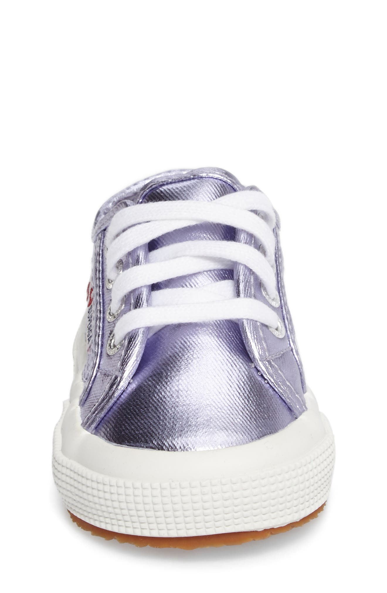 Metallic Sneaker,                             Alternate thumbnail 4, color,                             Orchid
