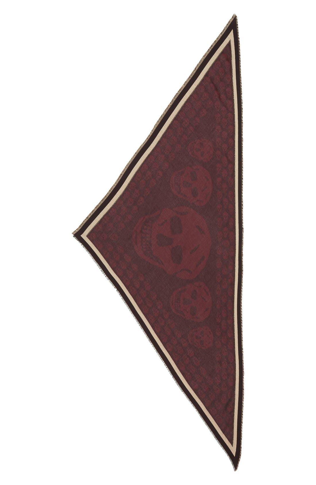 Alternate Image 2  - Alexander McQueen Skull Print Triangle Scarf