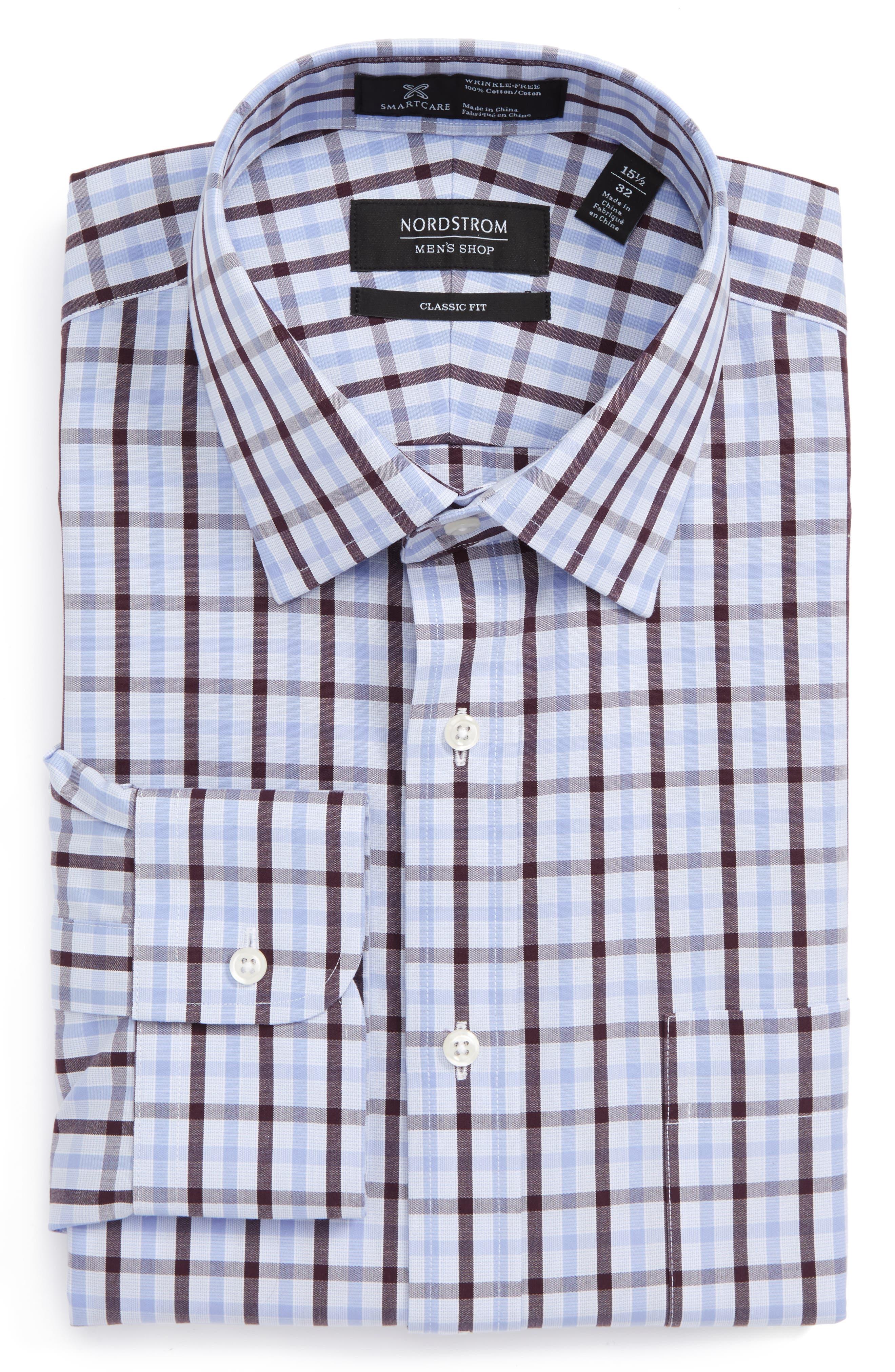 Main Image - Nordstrom Men's Shop Smartcare™ Trim Fit Check Dress Shirt