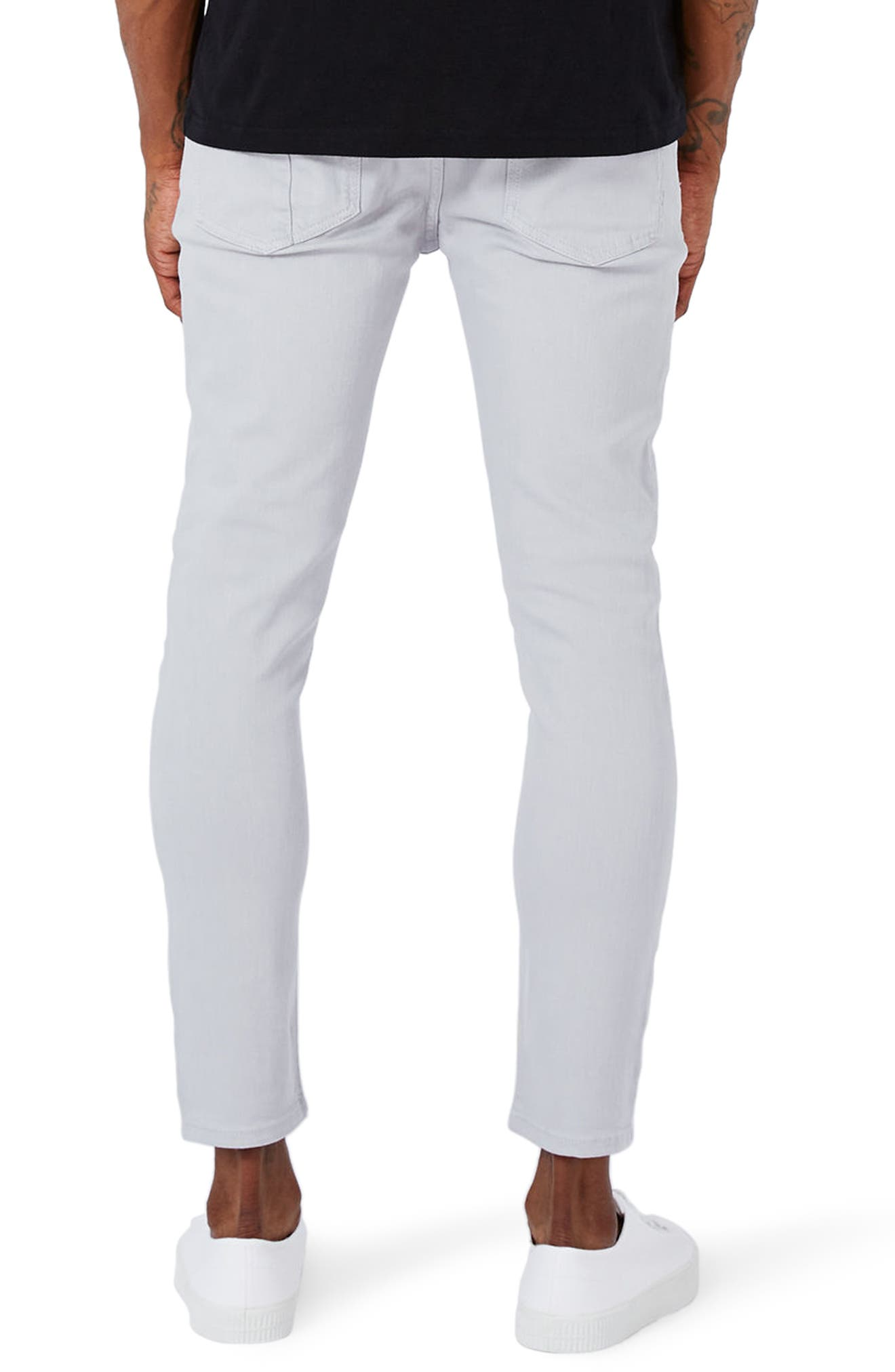 Alternate Image 3  - Topman Paneled Stretch Skinny Fit Jeans