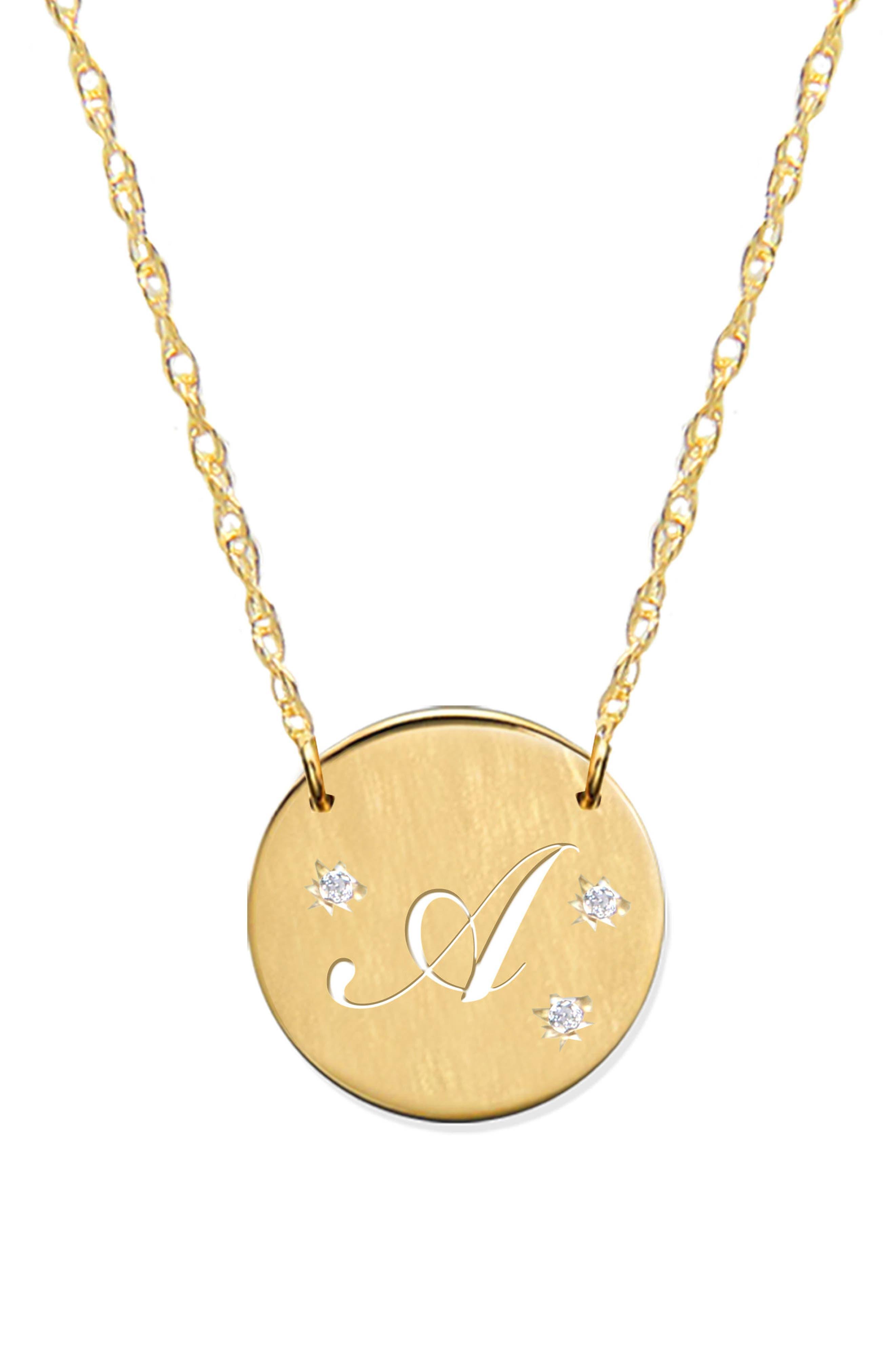 Alternate Image 1 Selected - Jane Basch Designs Pierced Initial Diamond Pendant Necklace
