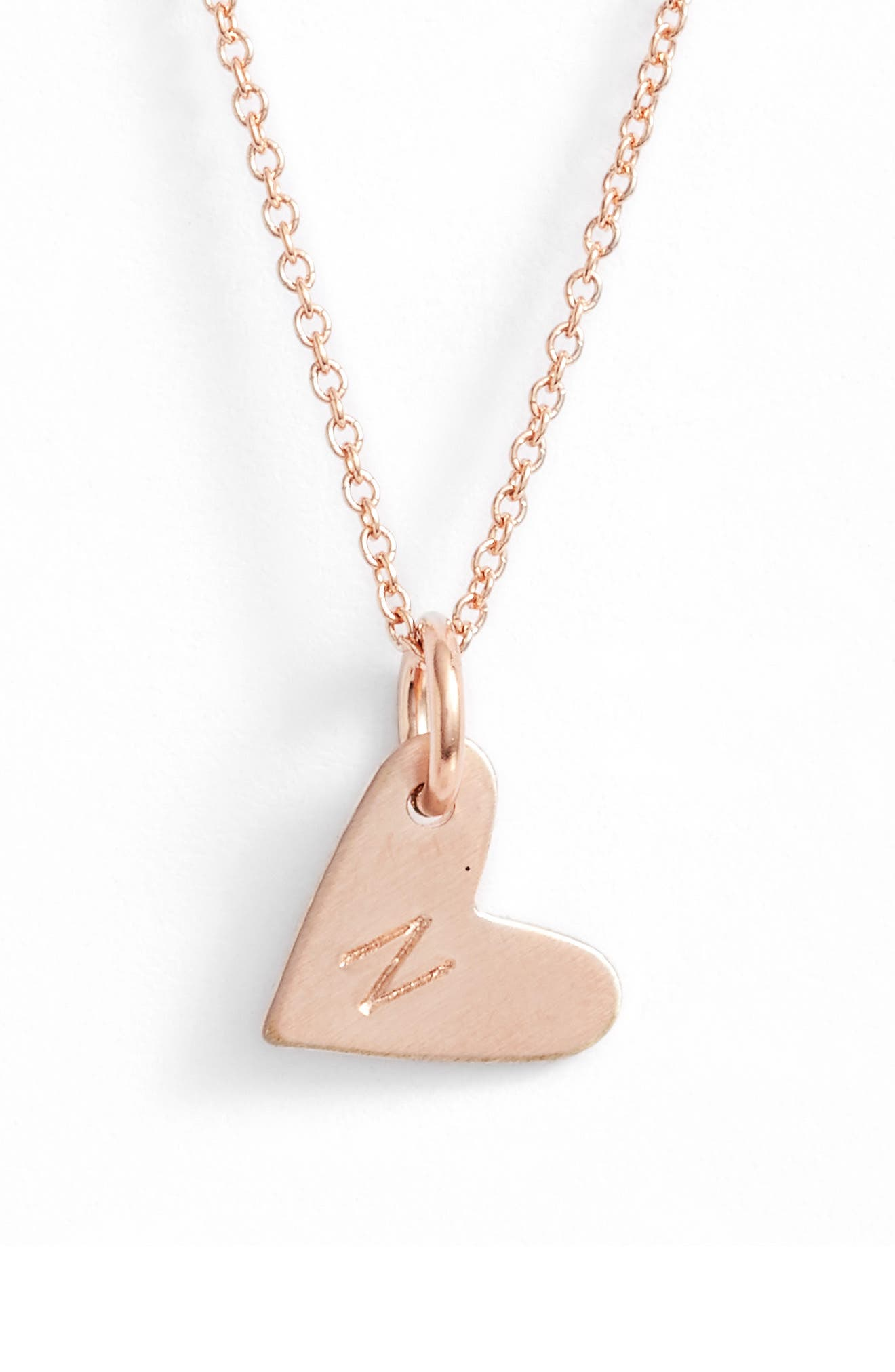 Alternate Image 1 Selected - Nashelle Initial Heart Pendant Necklace