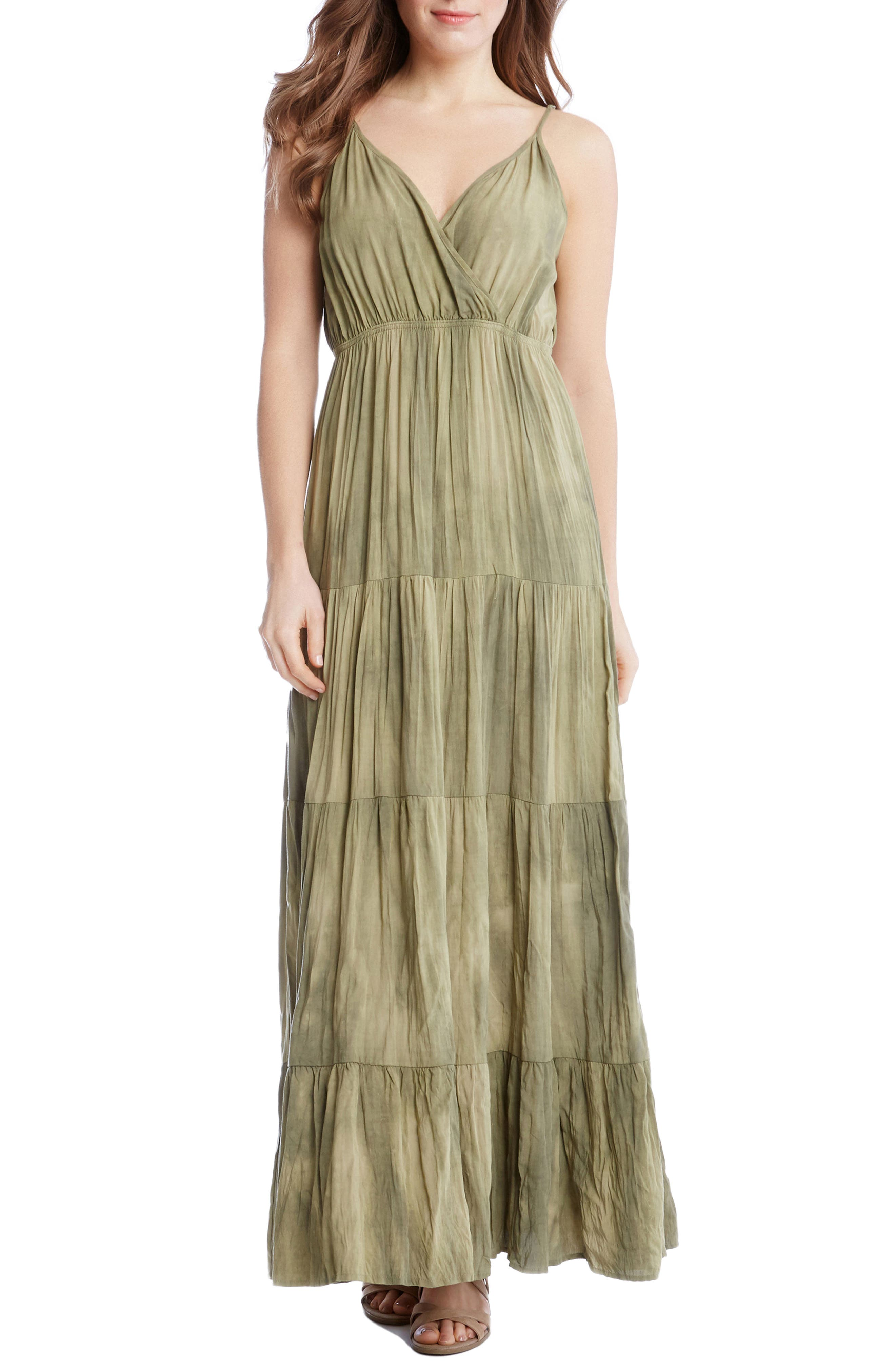 Tiered Maxi Dress,                         Main,                         color, Tie Dye