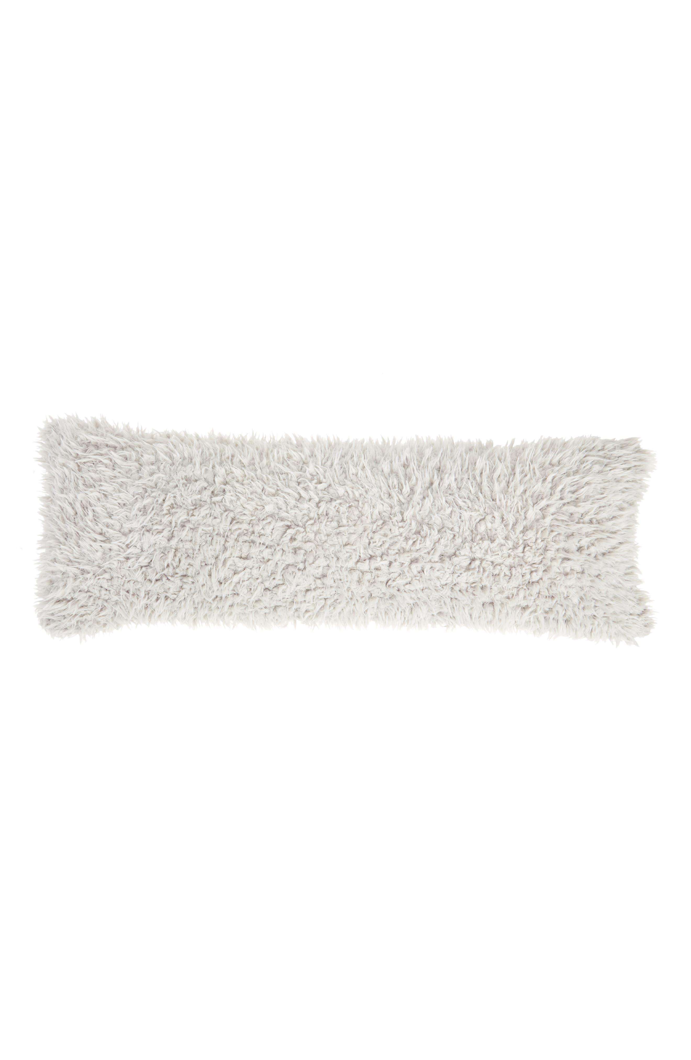 Shaggy Faux Fur Pillow,                         Main,                         color, Grey Vapor
