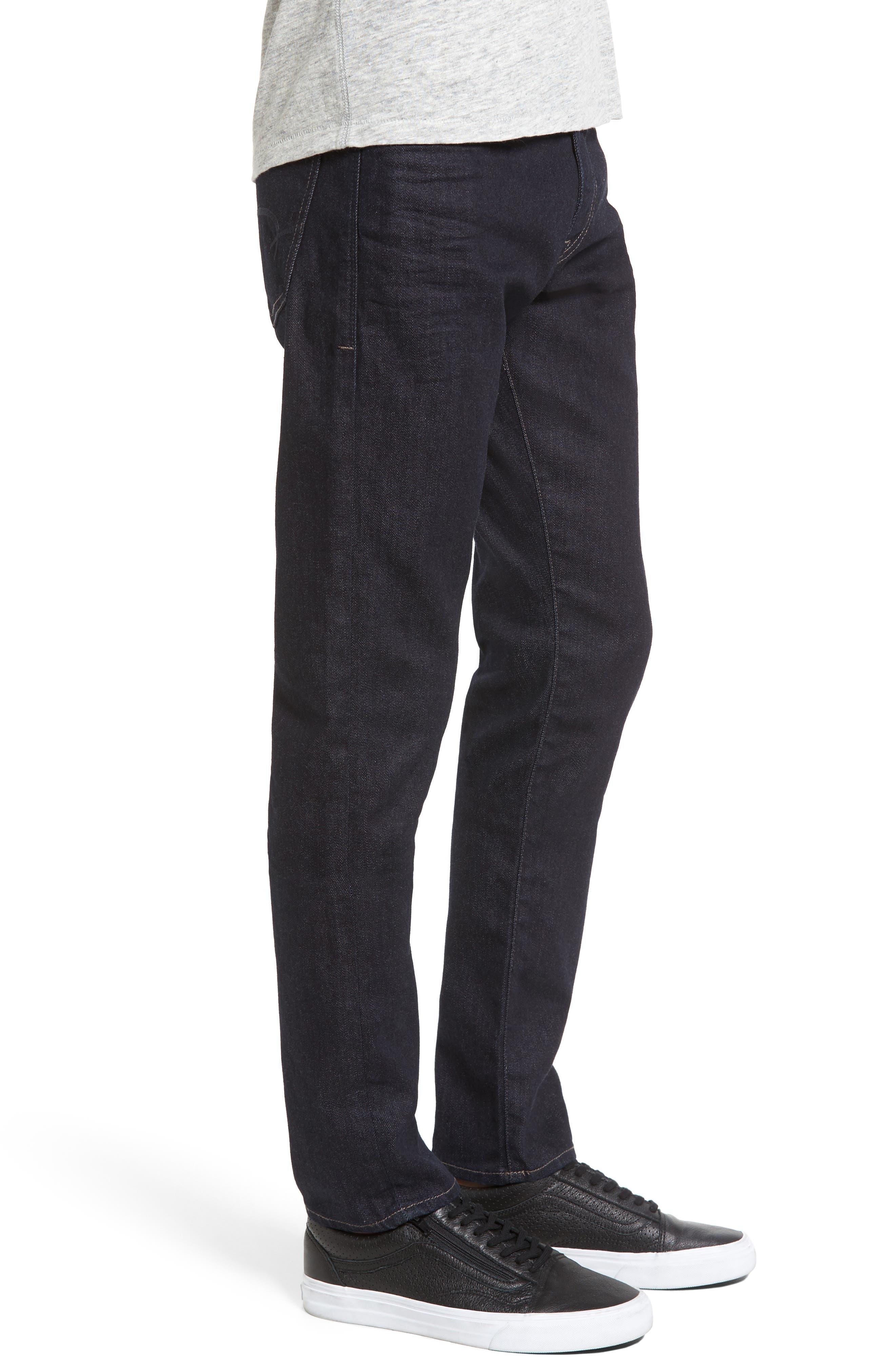 Alternate Image 3  - Mavi Jeans James Skinny Fit Jeans (Midnight Williamsburg)