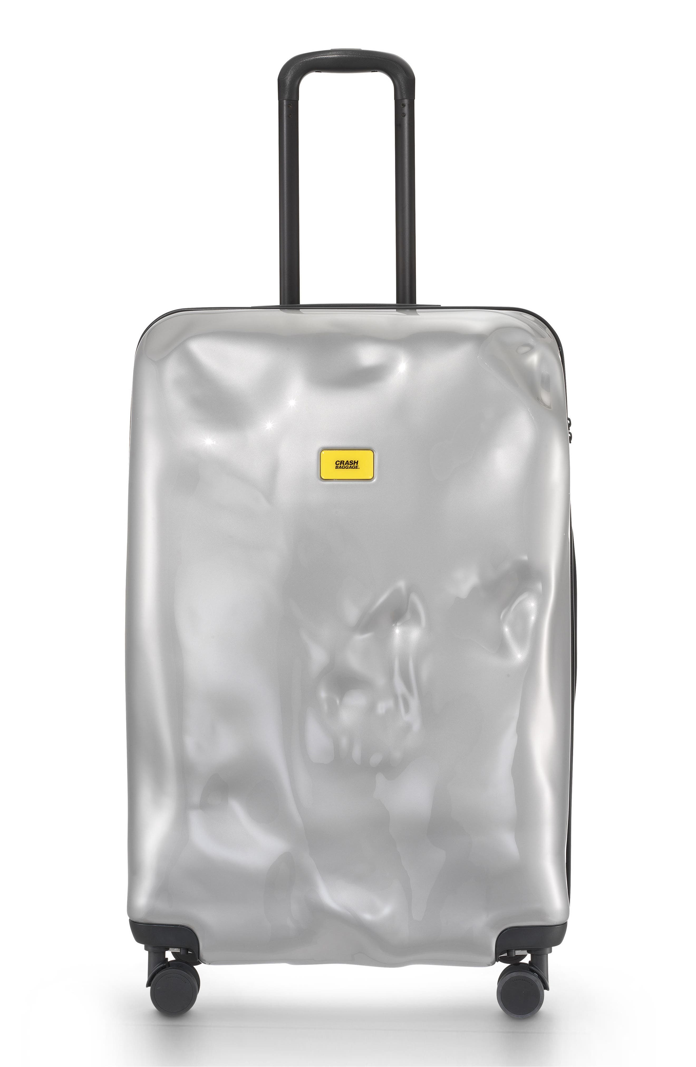 Large Bright Trolley Case,                         Main,                         color, Silver Medal