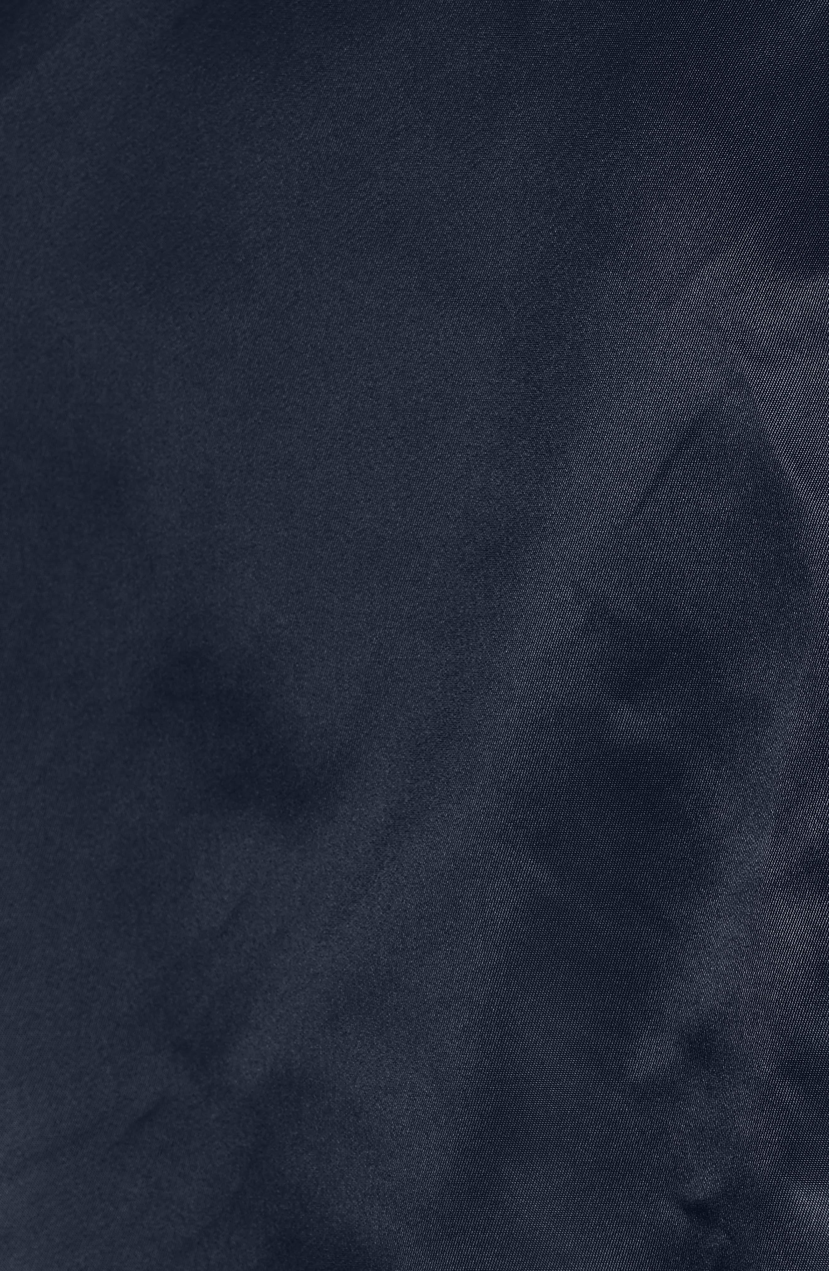 'MA-1' Slim Fit Bomber Jacket,                             Alternate thumbnail 5, color,                             Replica Blue