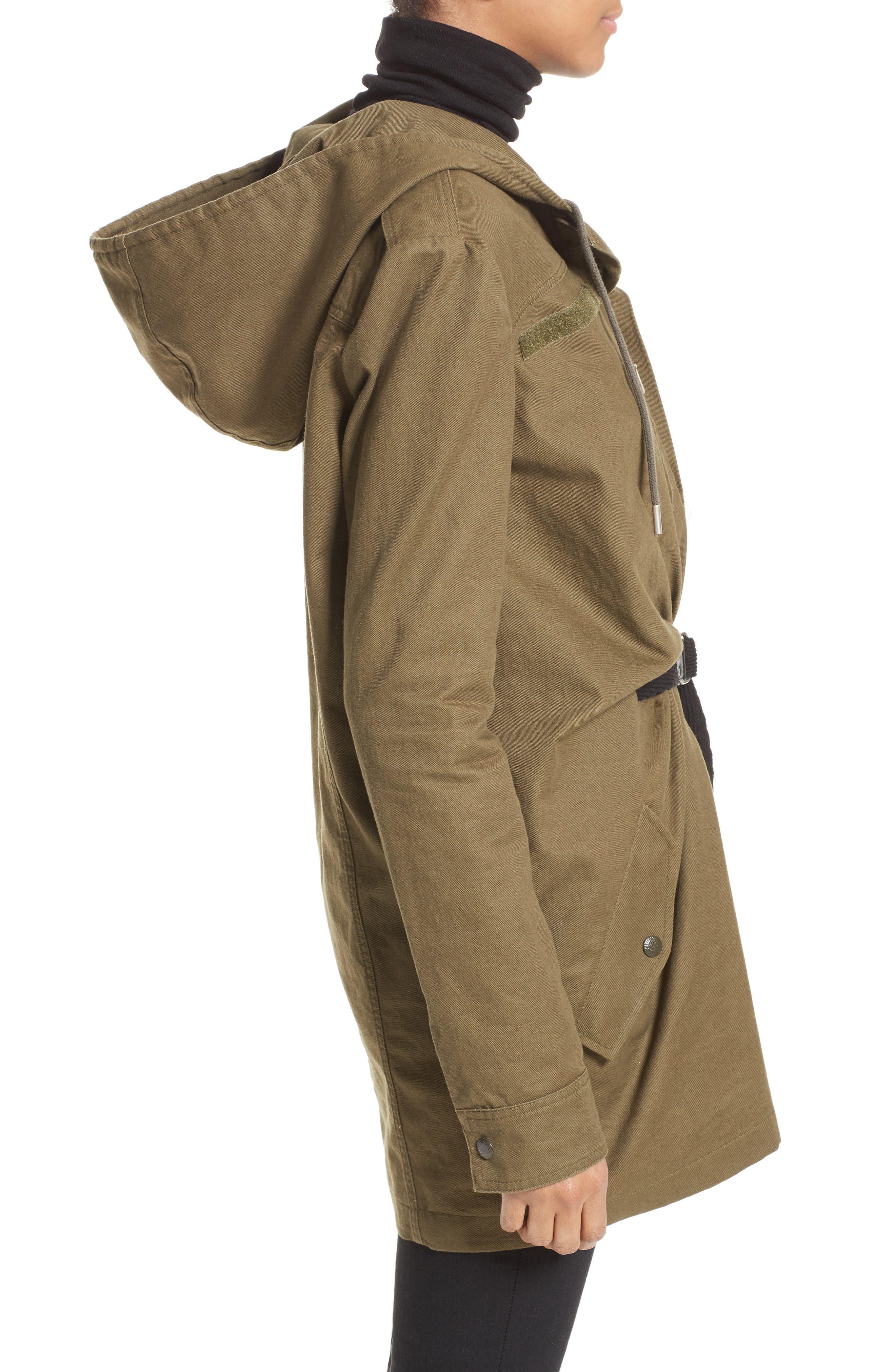 Alternate Image 5  - Saint Laurent Patch Embellished Cotton Blend Gabardine Dress