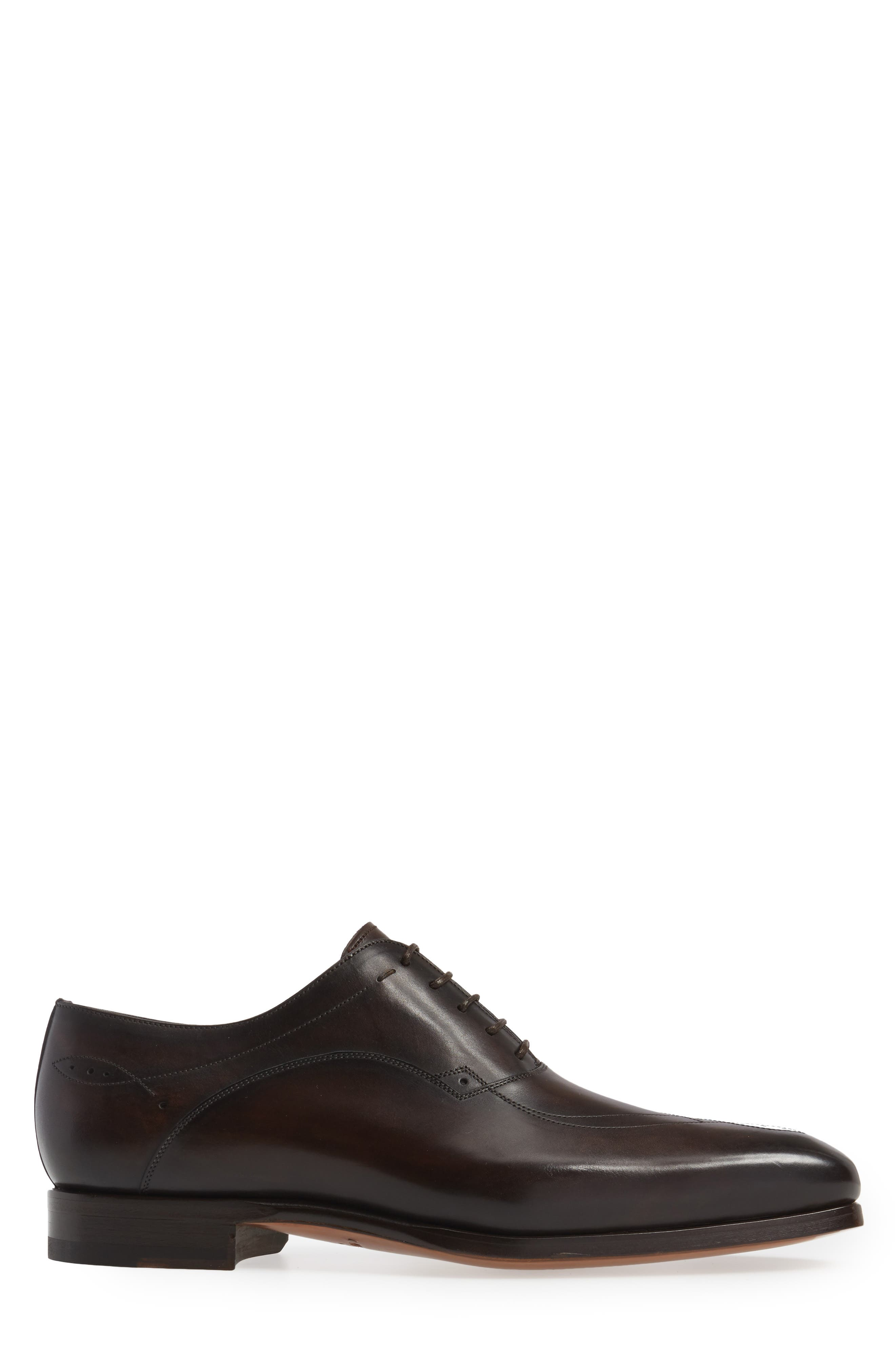 Francisco Plain Toe Oxford,                             Alternate thumbnail 3, color,                             Brown Leather