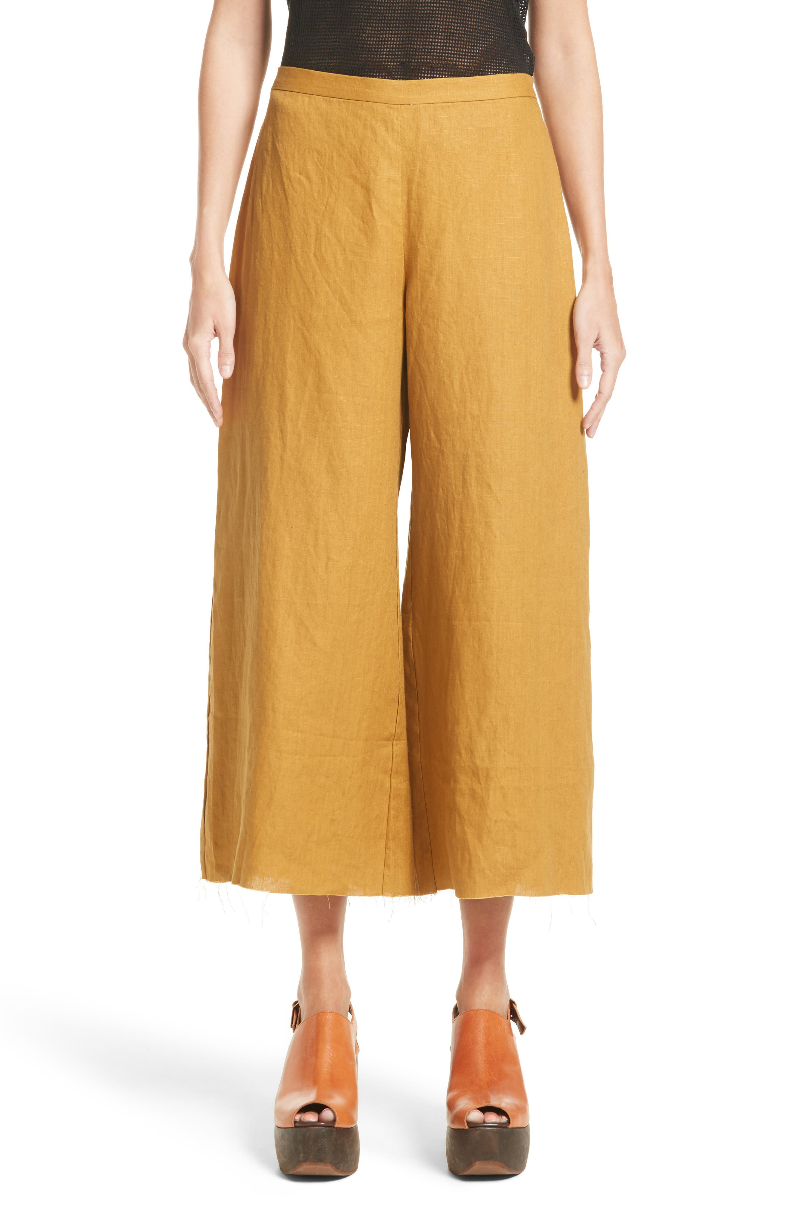 Alder Wide Leg Pants,                         Main,                         color, Maize
