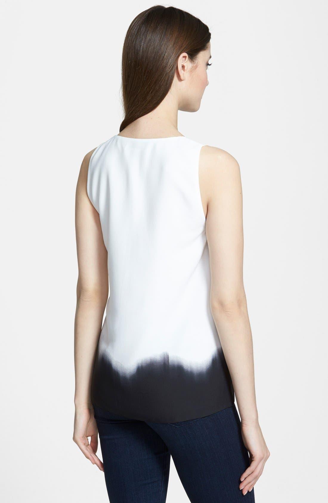Alternate Image 2  - DKNYC V-Neck Pleat Front Blouse