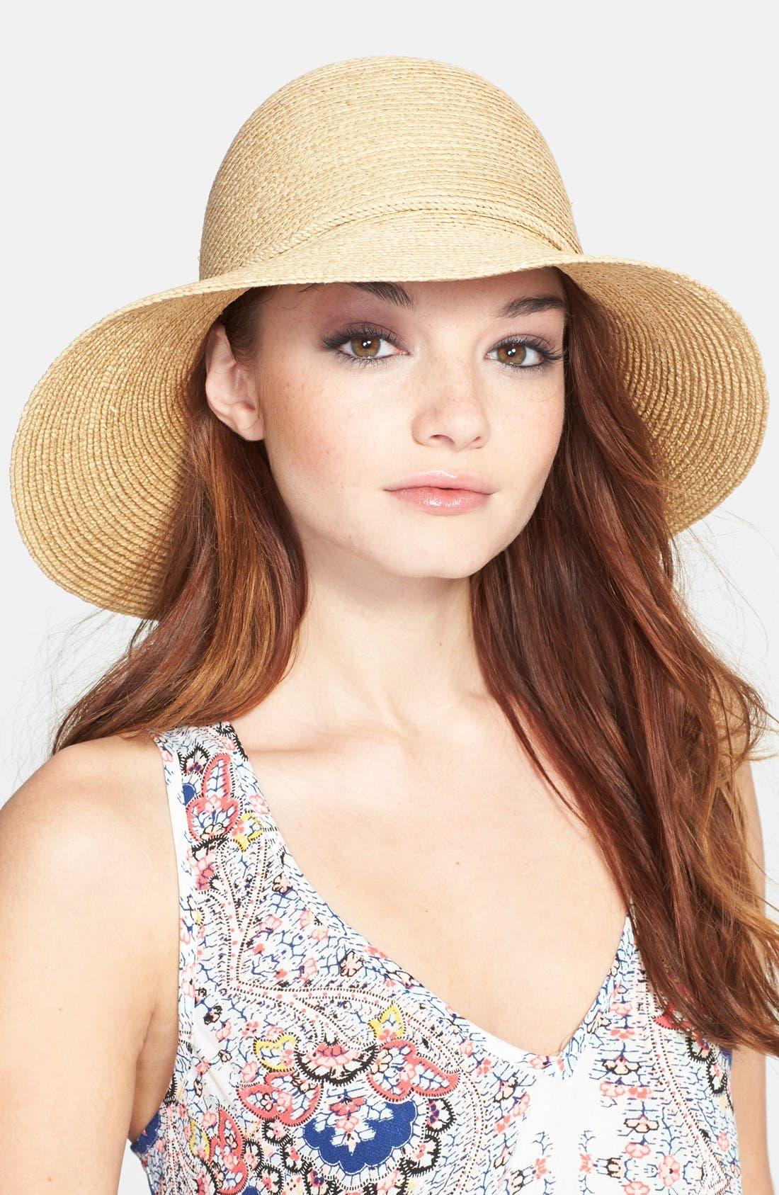 'Andriana' Raffia Straw Hat,                         Main,                         color, Natural