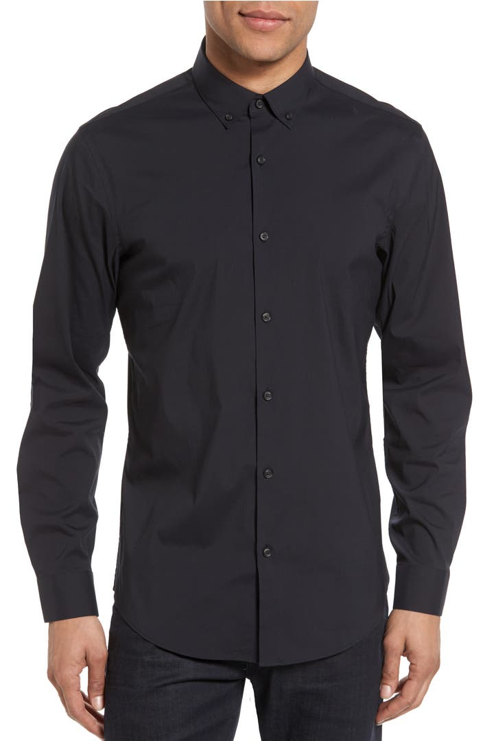 Calibrate trim fit stretch woven sport shirt nordstrom for How to stretch a dress shirt